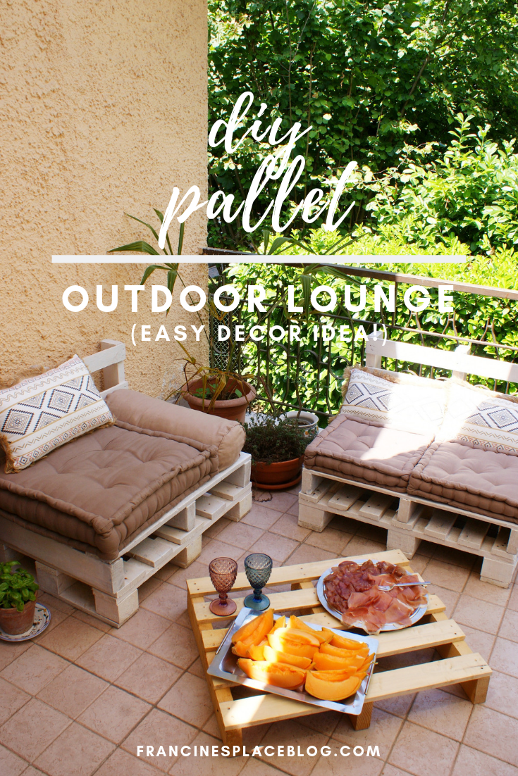 diy pallet outdoor lounge decor home idea tutorial francinesplaceblog