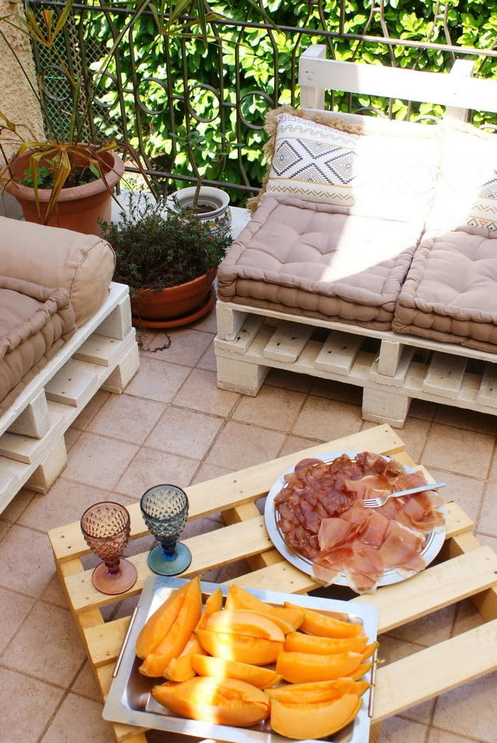 diy pallet decor lounge outdoor
