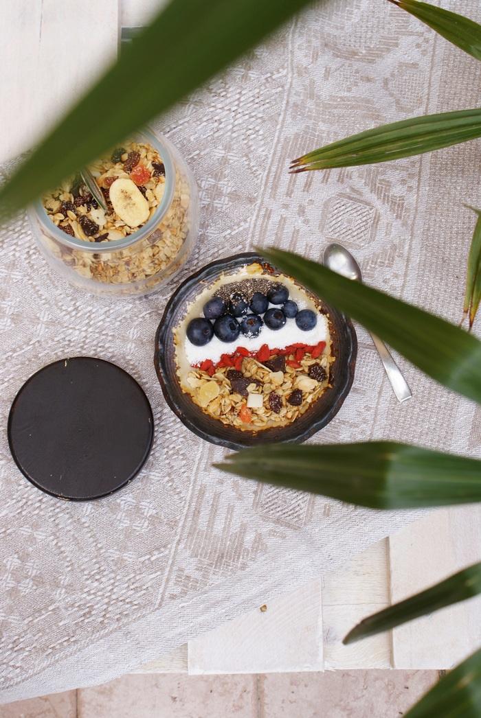 diy granola fruit chocolate microwave