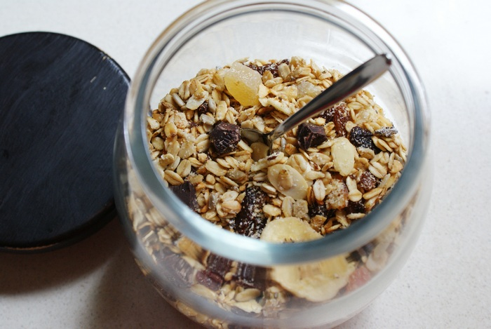 granola fruit chocolate recipe diy