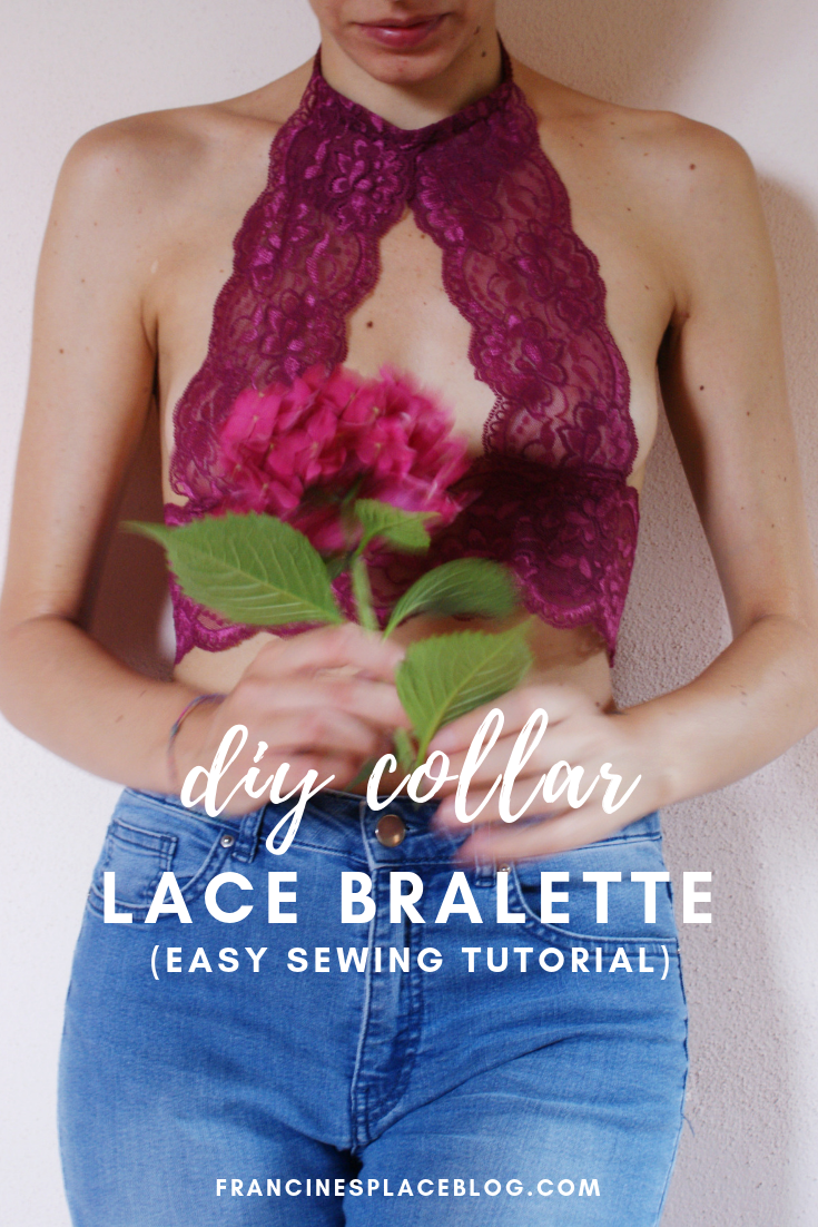 diy collar high neck lace bralette easy tutorial ultimate francinesplaceblog