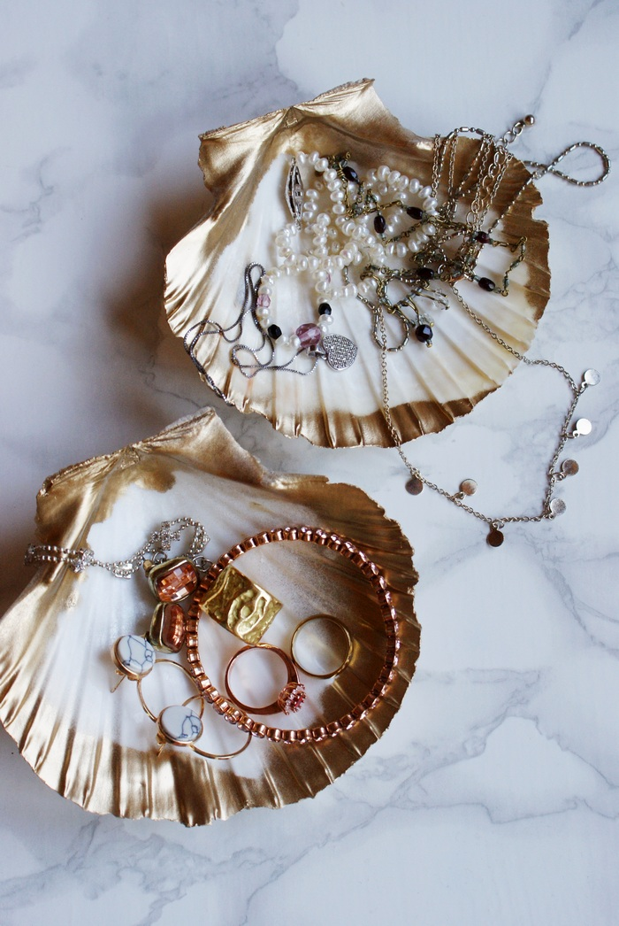 diy shell jewelry dish decor