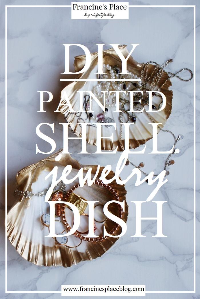 diy shell jewelry dish francinesplaceblog