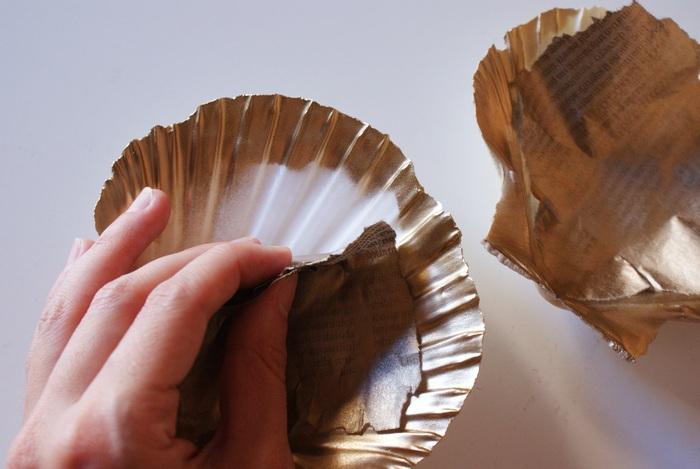diy painted shell dish decor