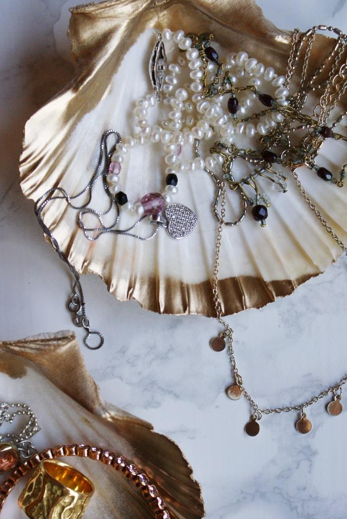 conchiglie gioielli faidate decor casa