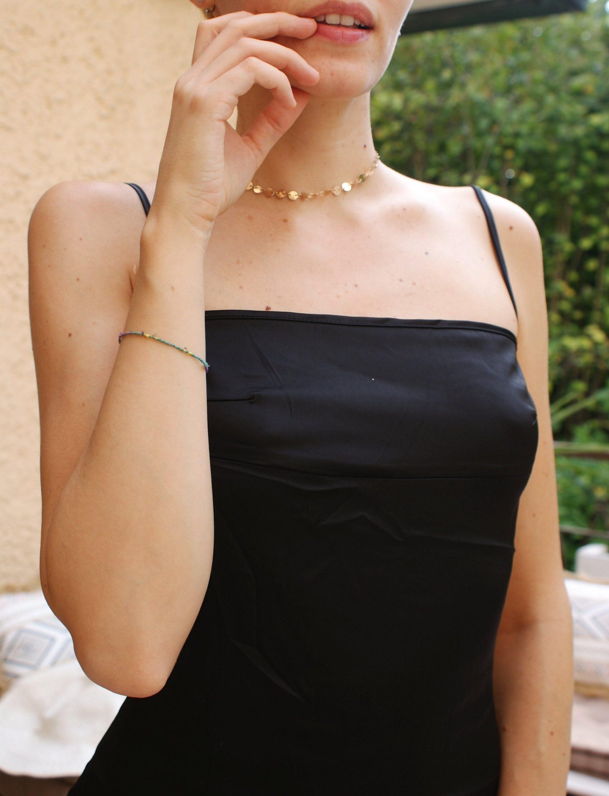 choker golden tiny sequins francinesplaceblog