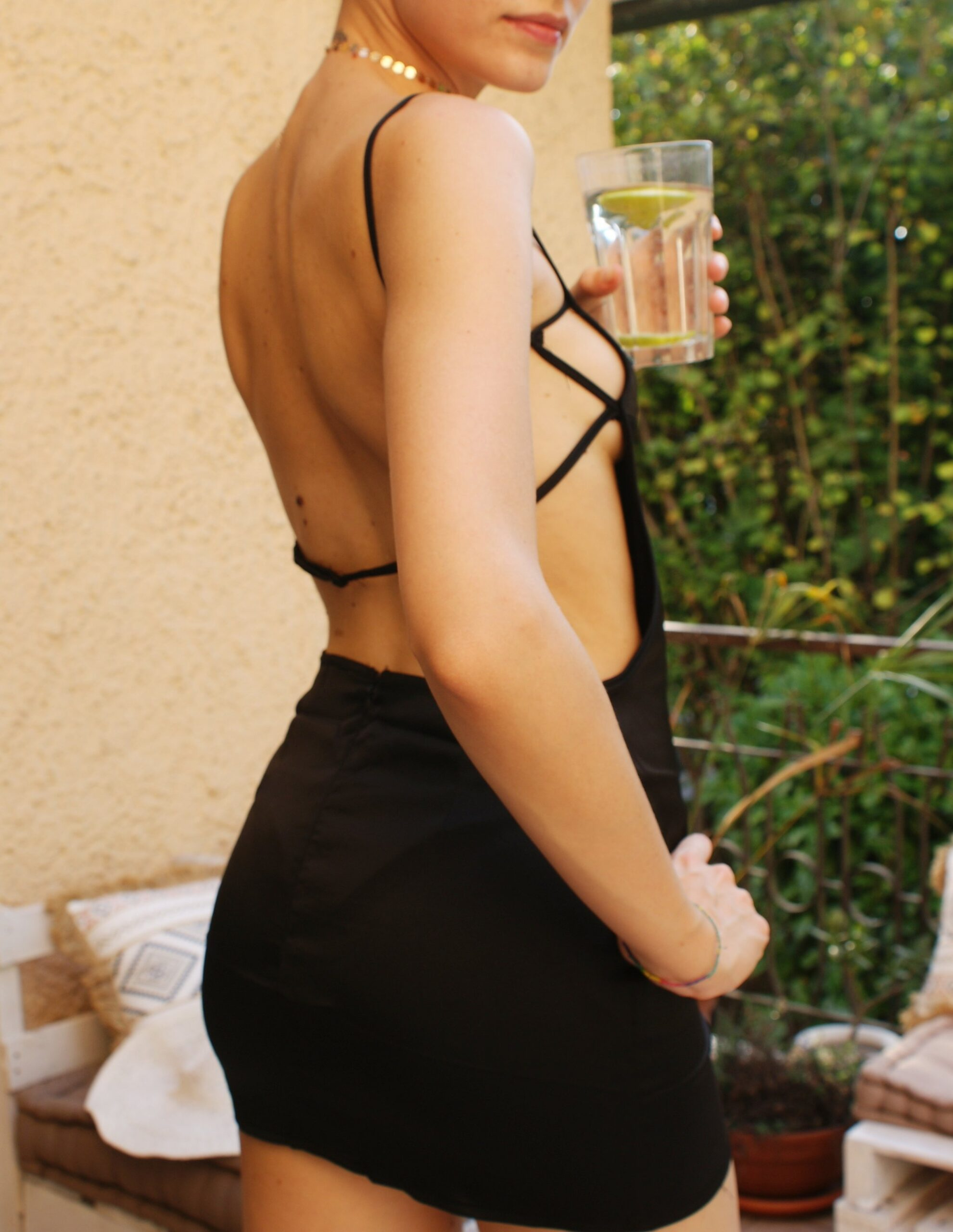 mini satin dress abito model