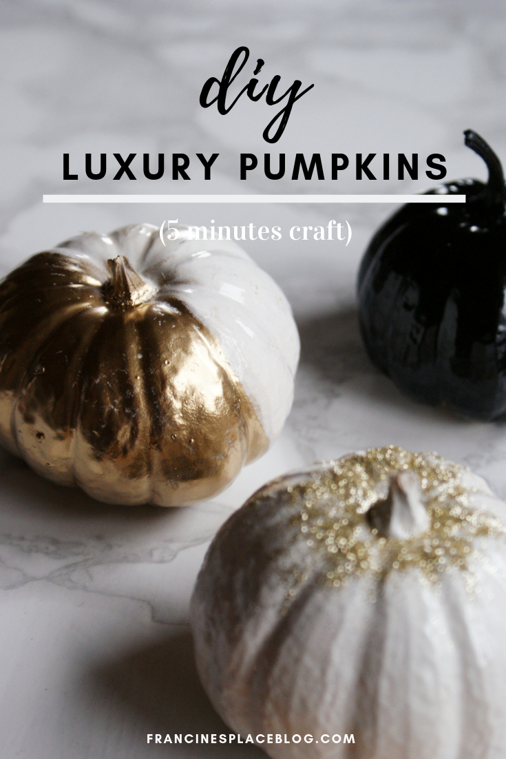 diy luxury painted pumpkins halloween decor home ideas fall francinesplaceblog gold glitter