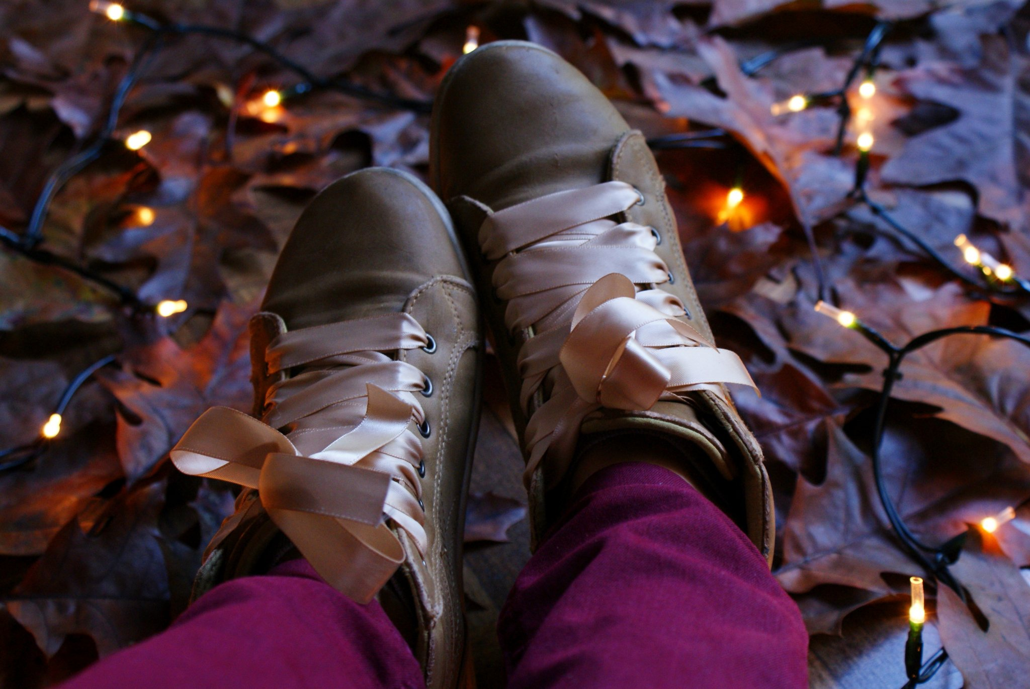 diy lace up ribbon sneakers