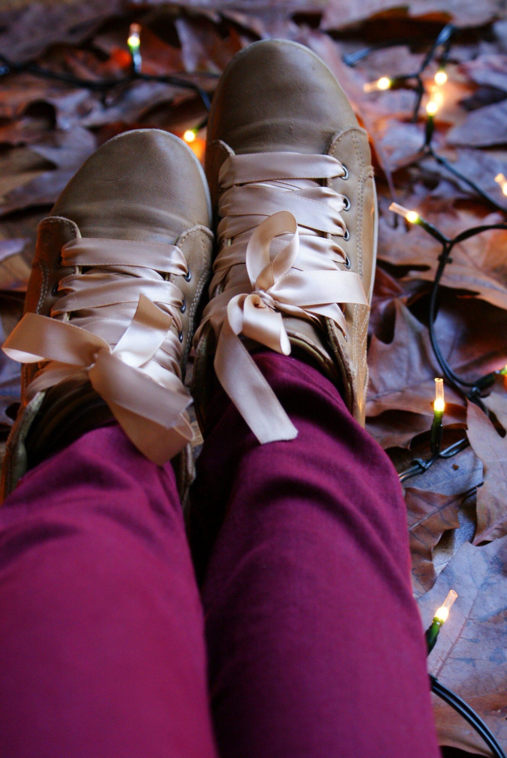diy shoes idea easy ribbon