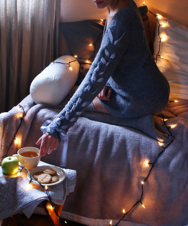 diy cozy sweater idea ribbon