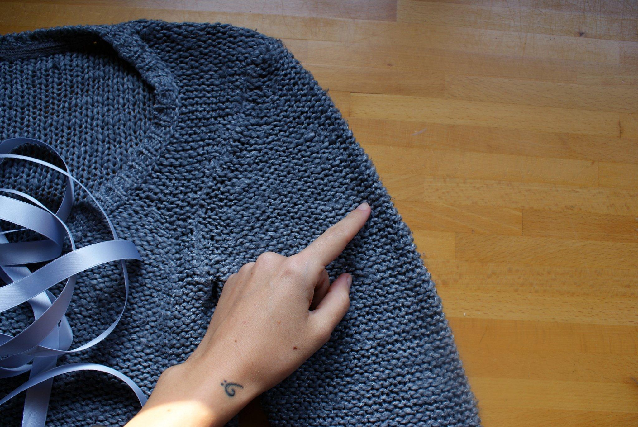 diy ribbon sleeve sweater francinesplaceblog