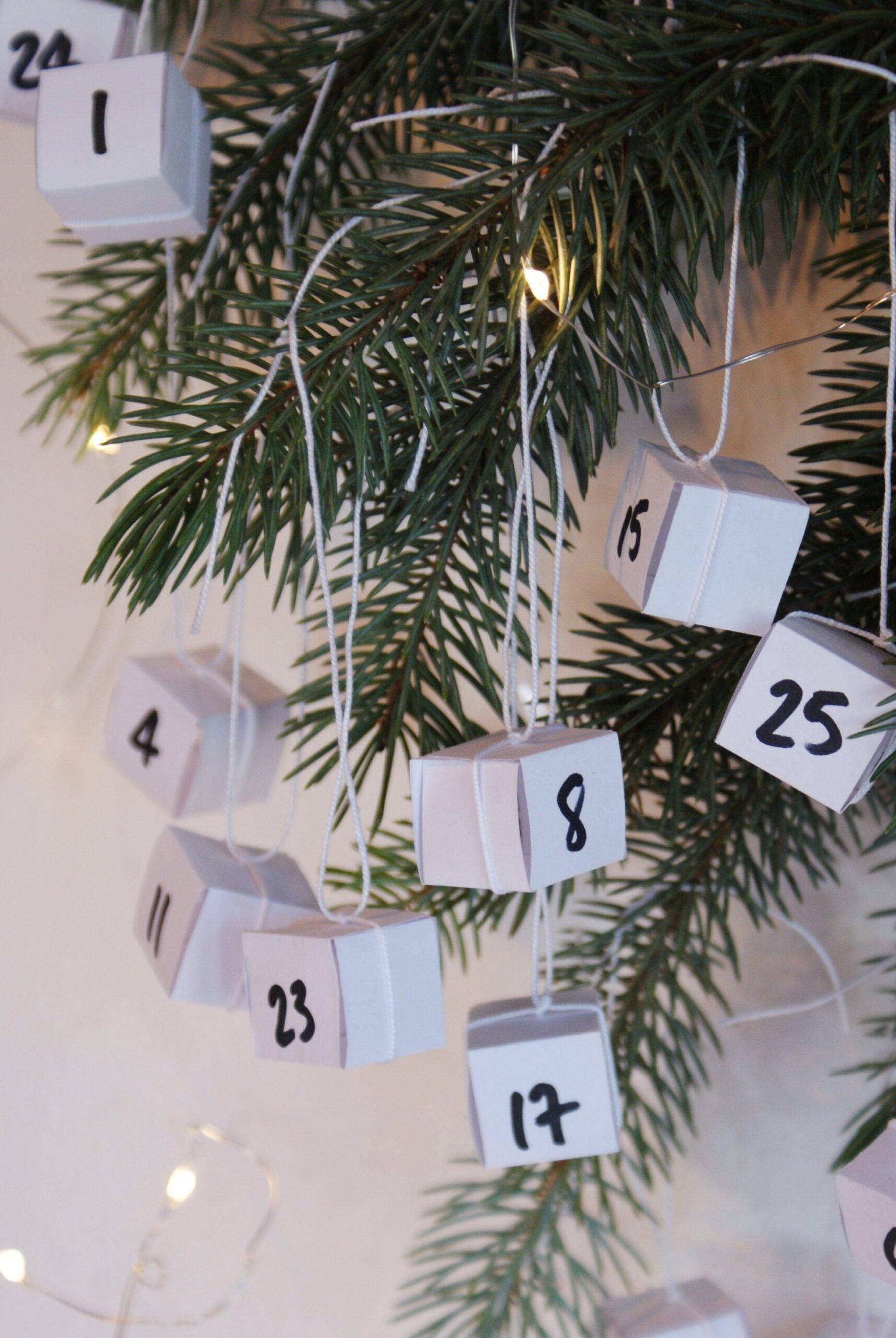 diy easy advent calendar idea decor