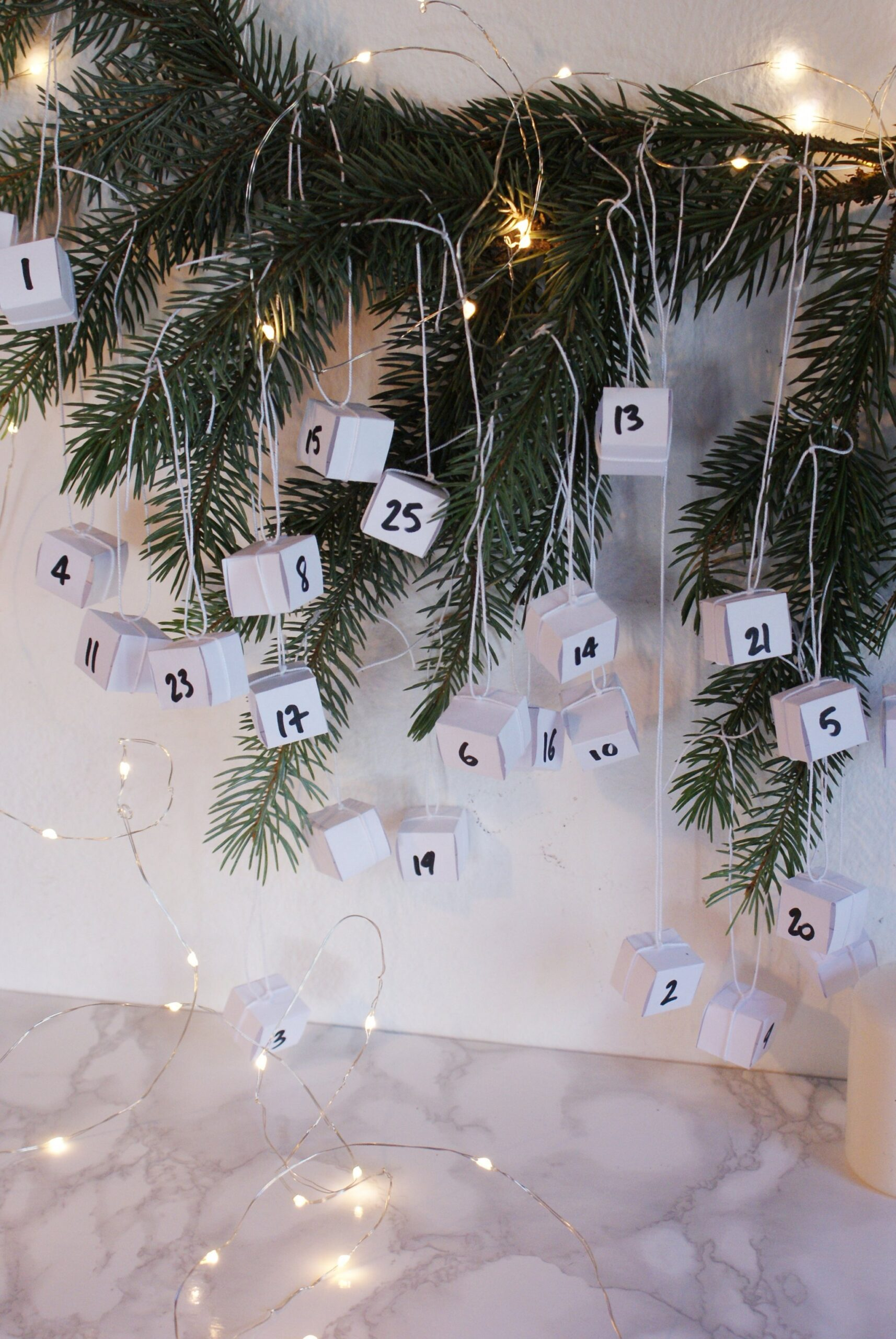 diy boxes advent calendar idea