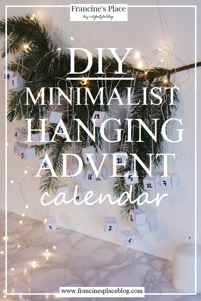 diy minimalist hanging advent calendar francinesplaceblog christmas