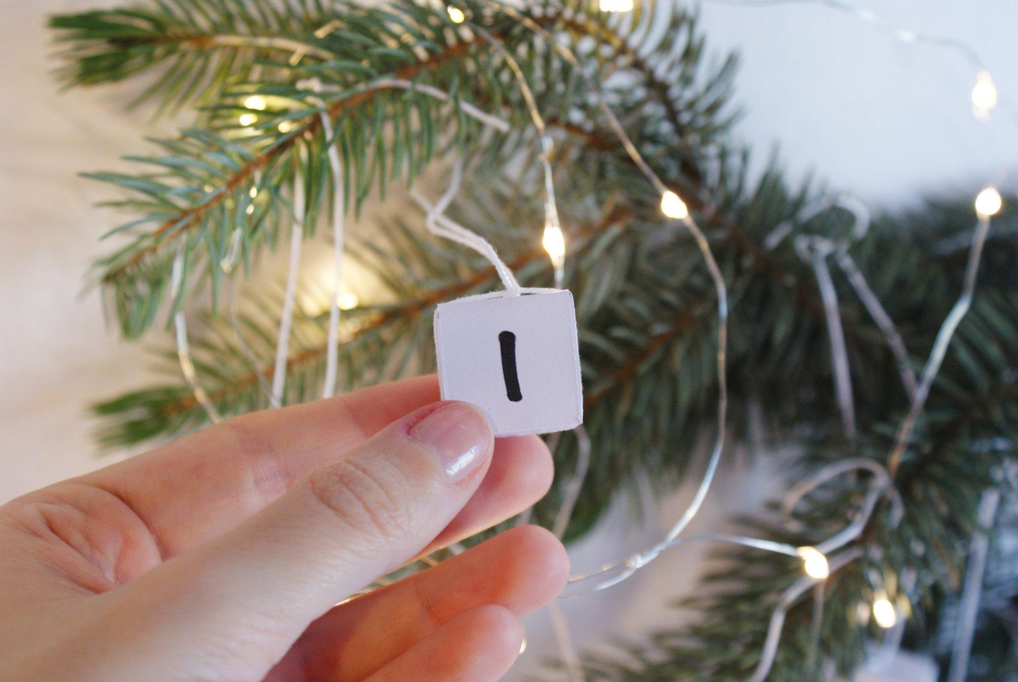 diy christmas advent calendar idea