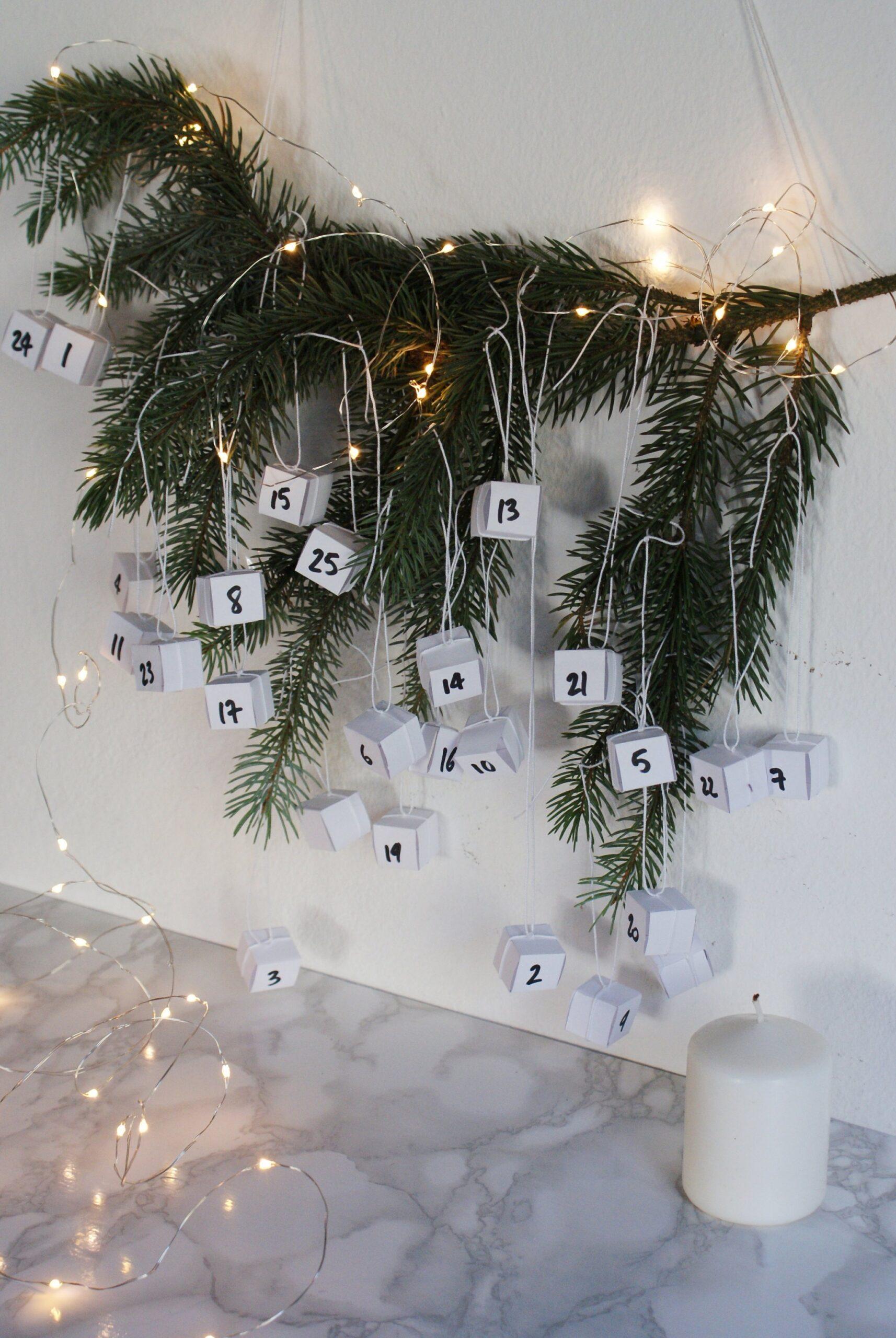 diy minimalist hanging advent calendar francinesplaceblog