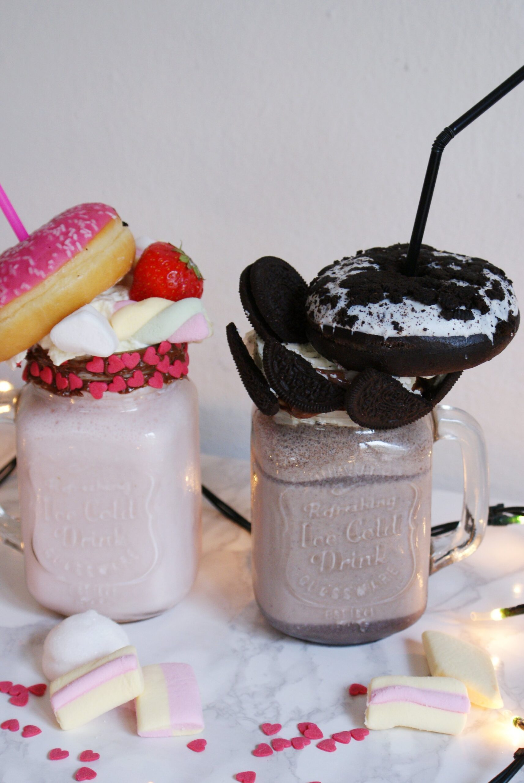 oreo marshmallow doughnut freakshake recipe