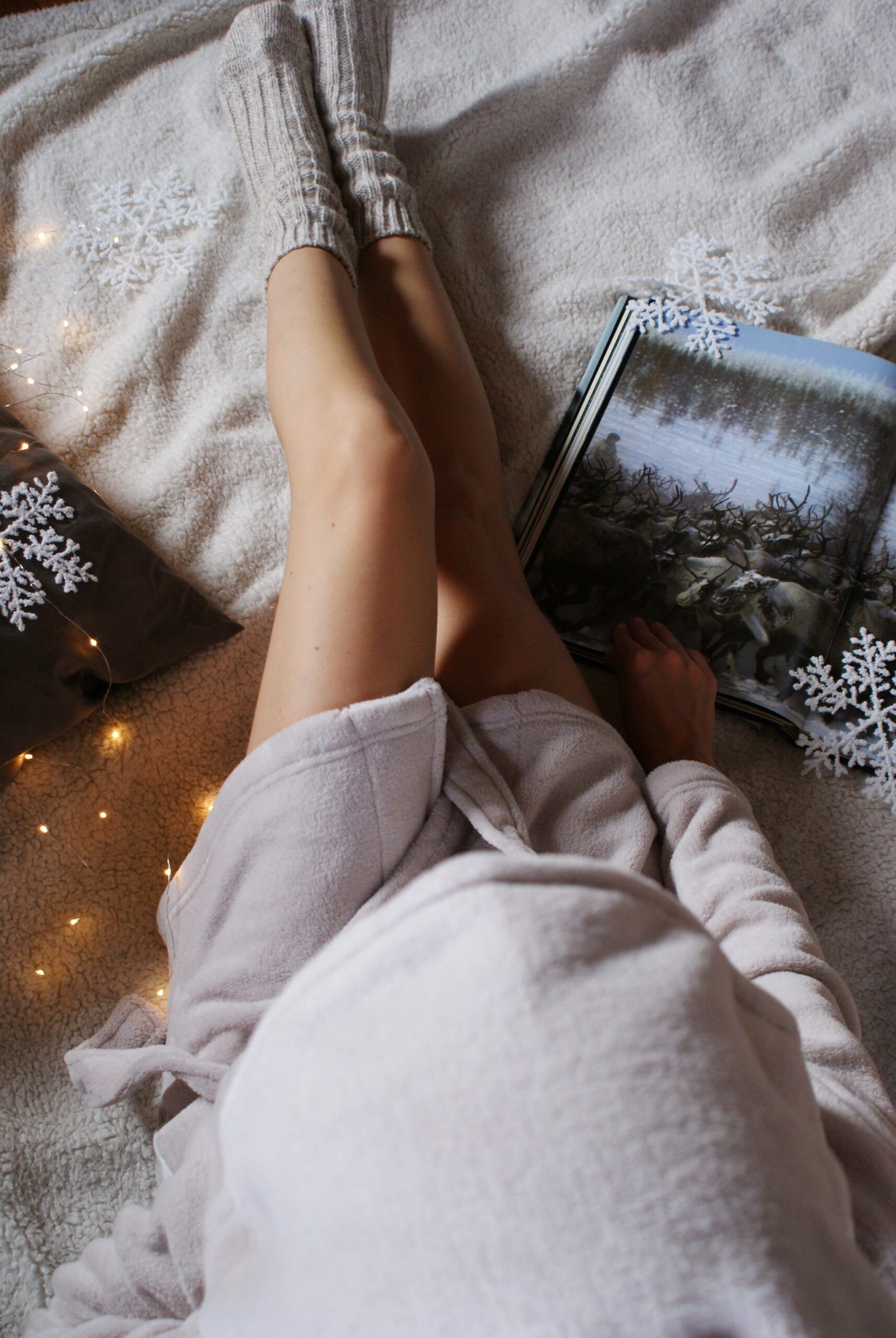 cozy winter home outfit flatlay