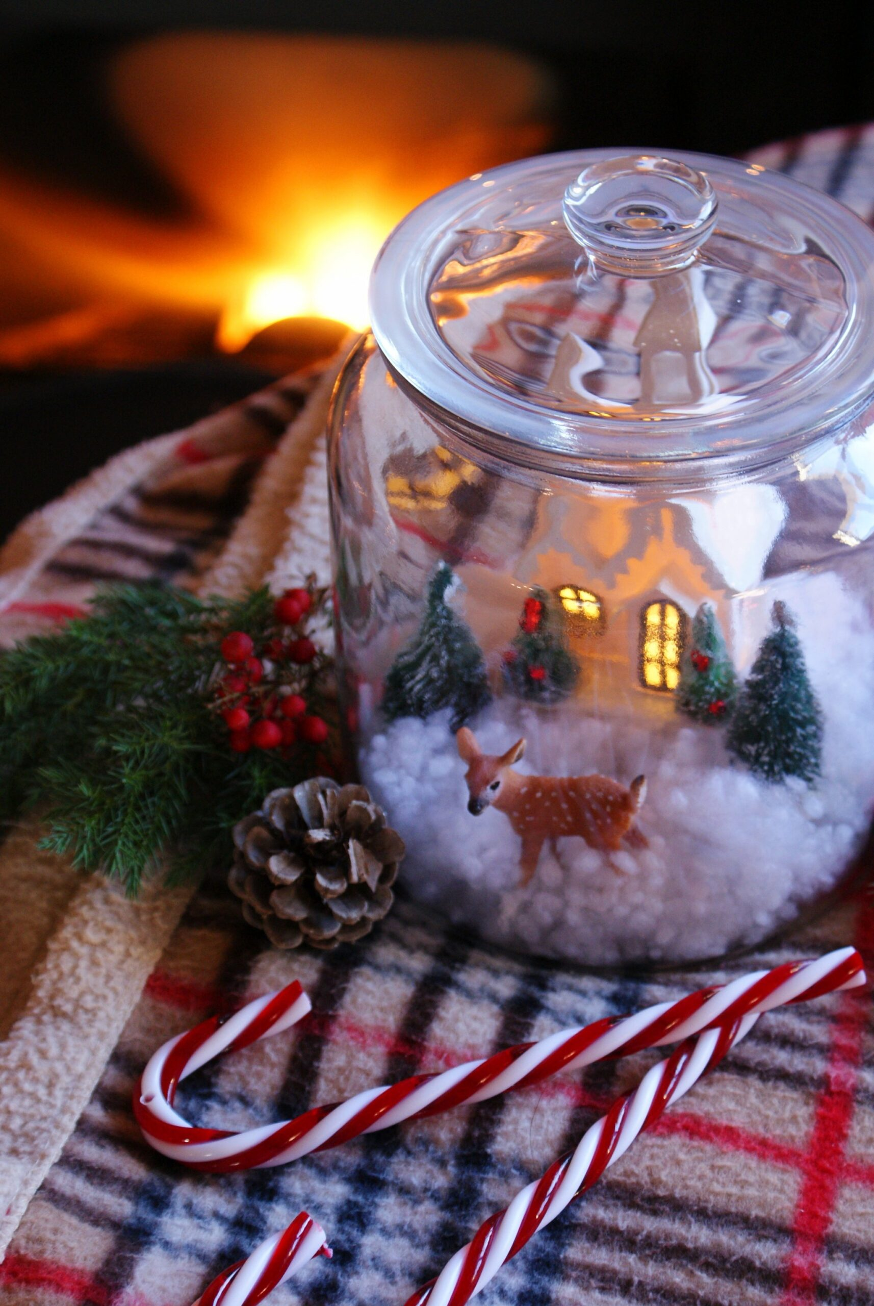 diy christmas winter scene jar francinesplaceblog
