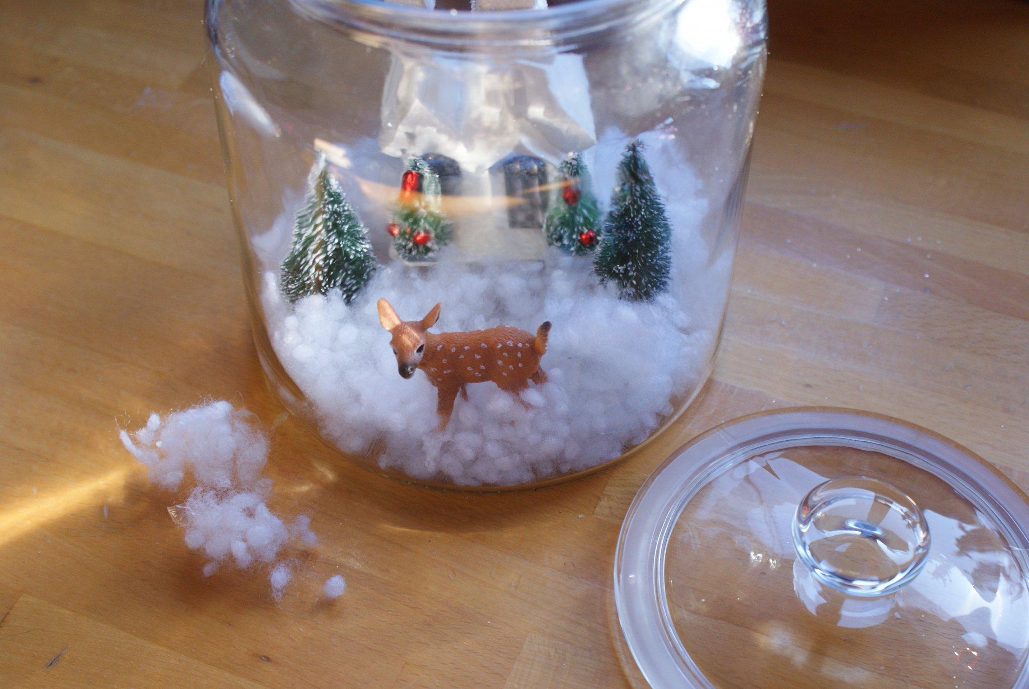diy christmas winter snow scene globe