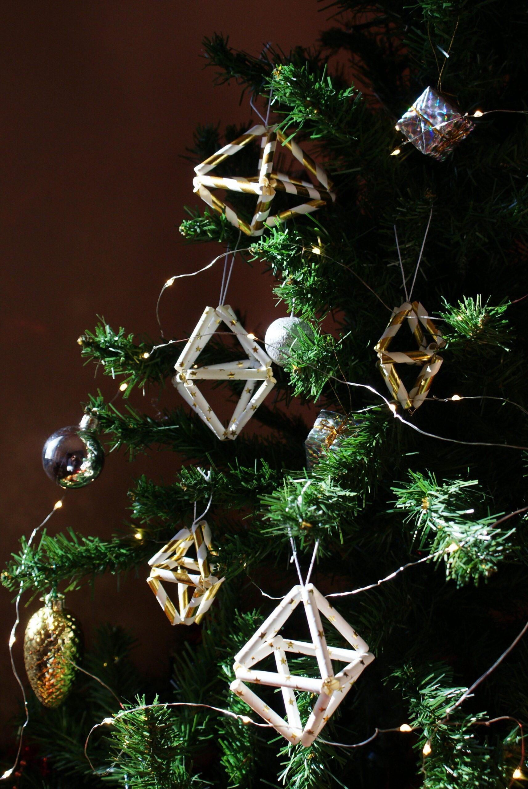 diy christmas tree himmeli decorations