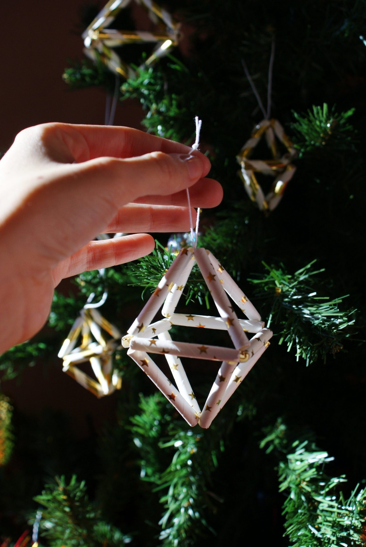 christmas tree himmeli ornaments diy francinesplaceblog