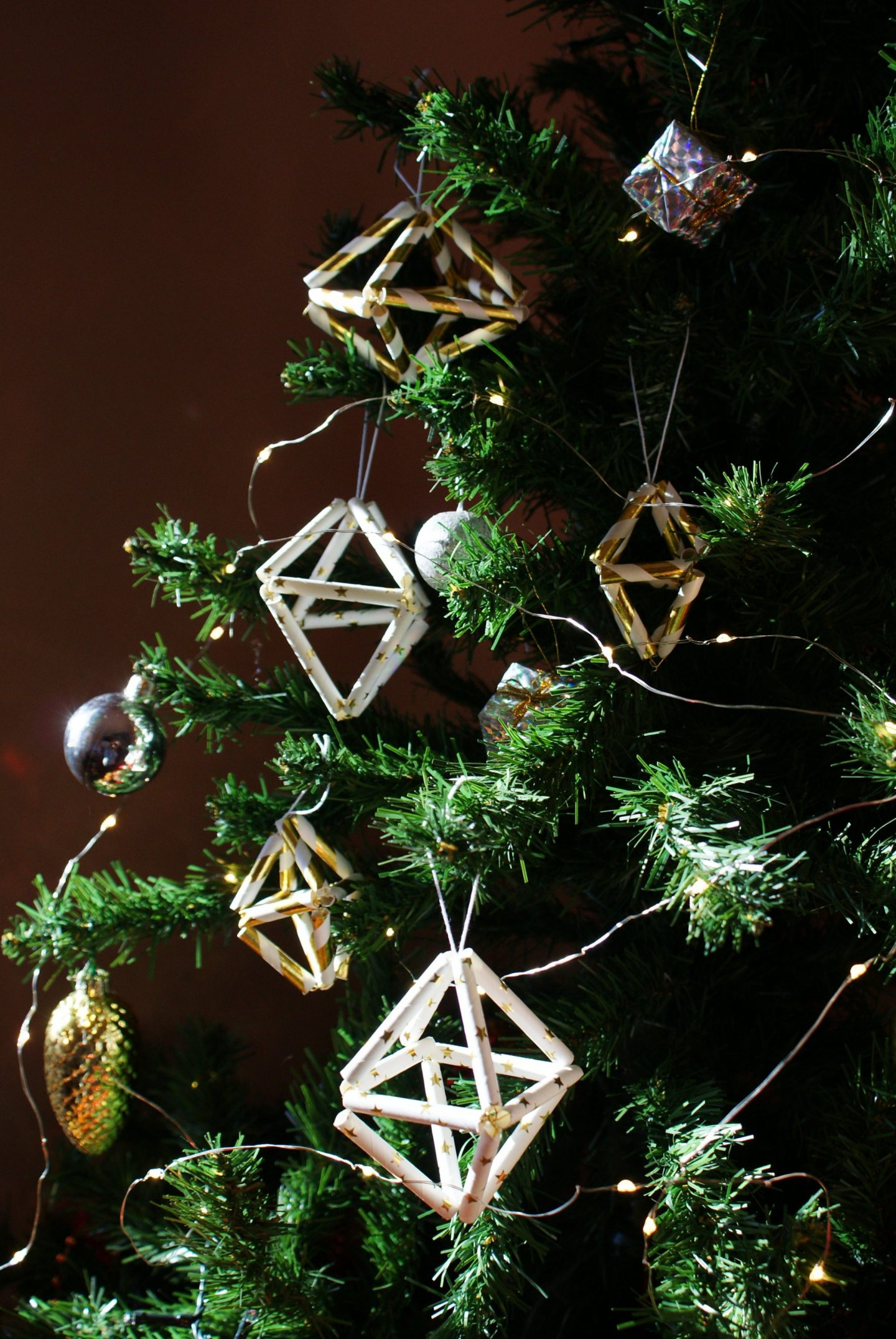 diy christmas tree himmeli ornaments