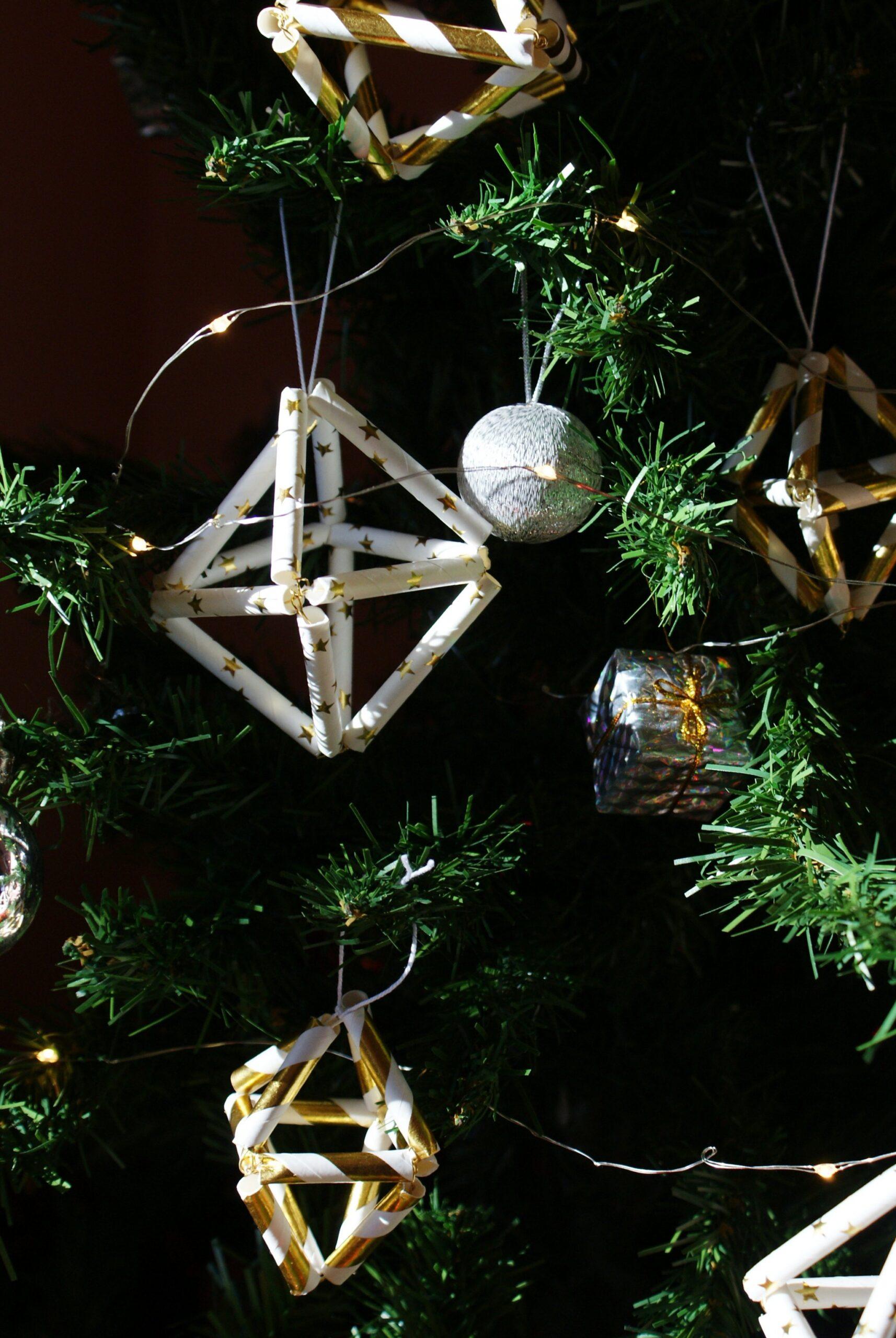 decorazioni faidate minimal albero natale