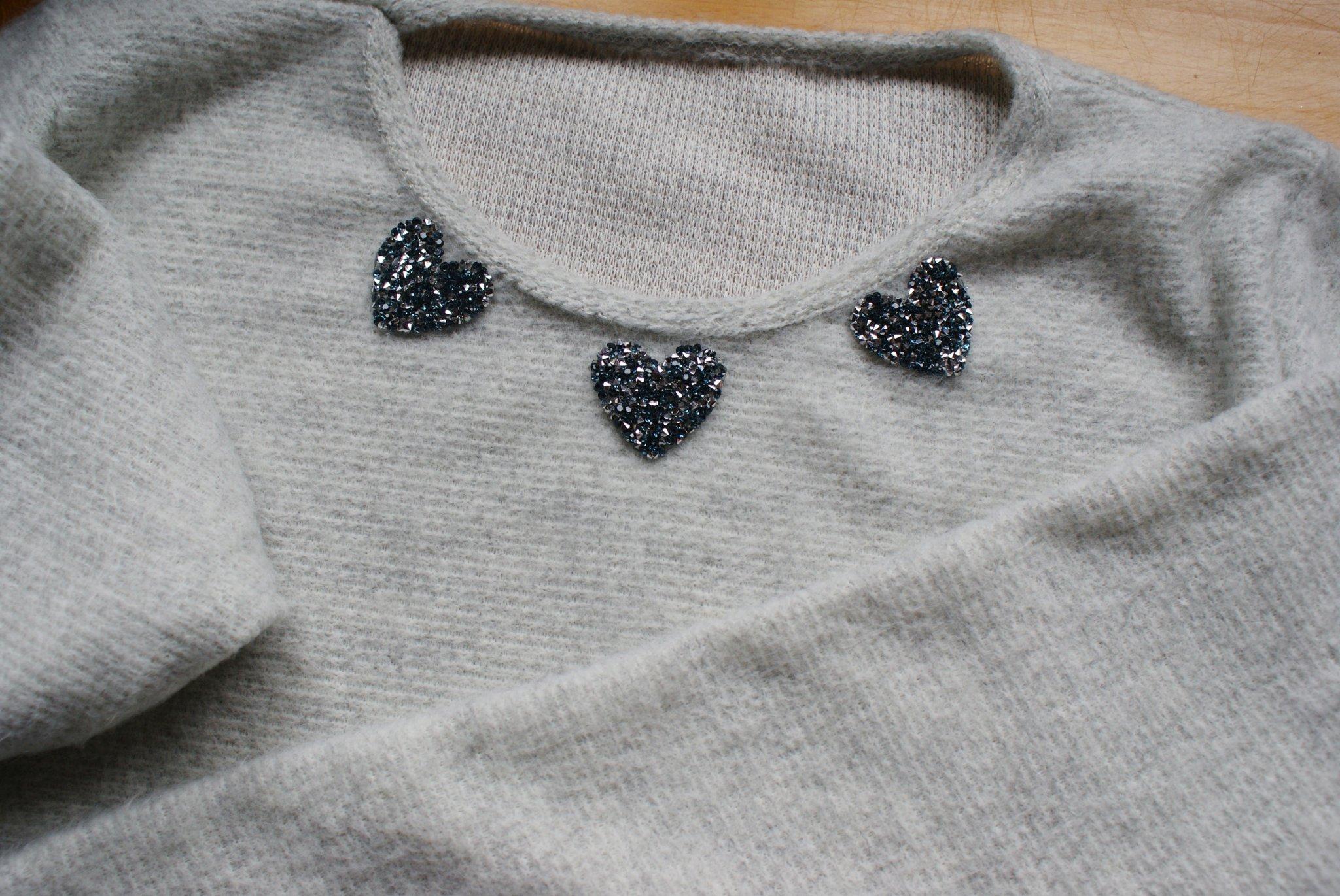 maglione natalizio cristalli faidate glitter