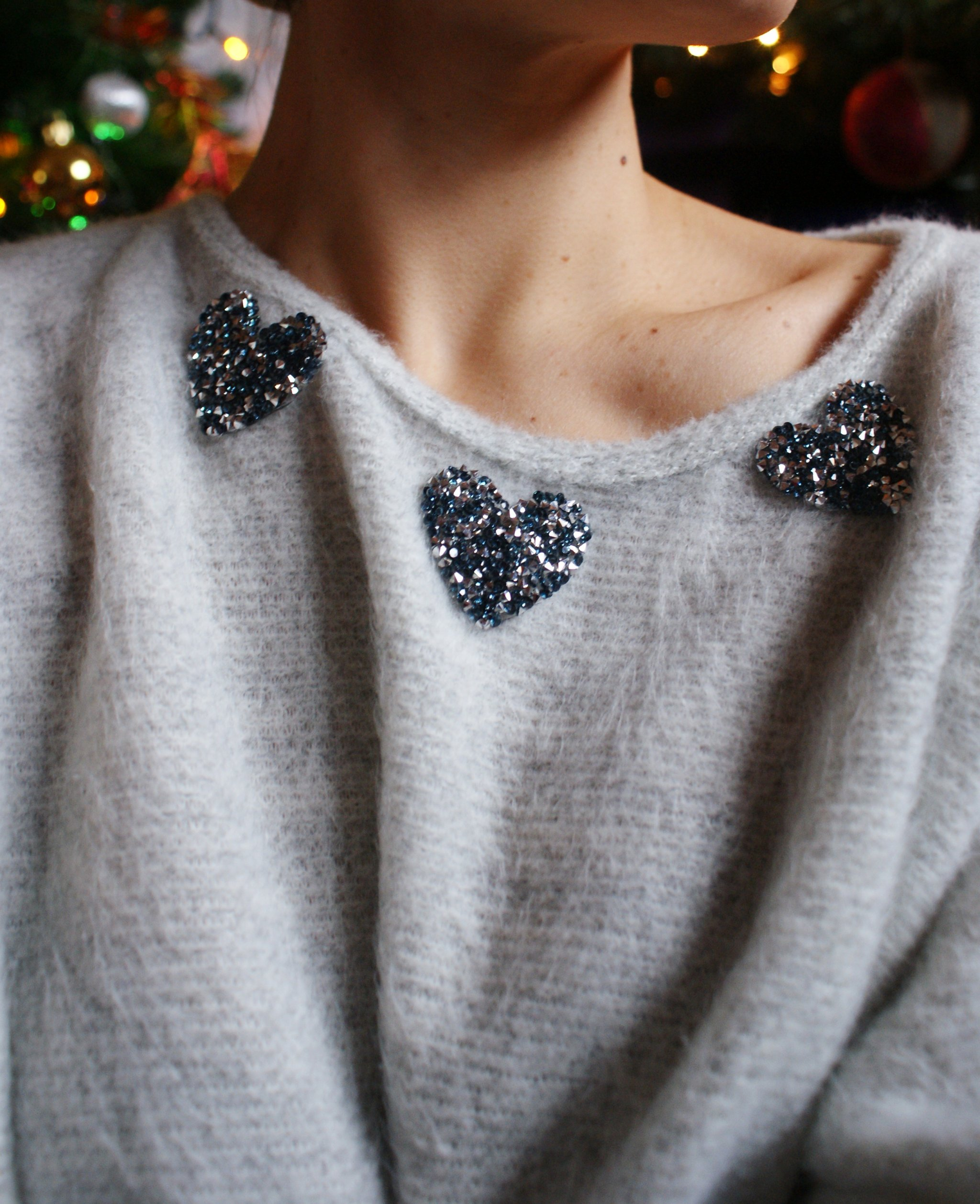 diy cozy christmas sweater sparkle