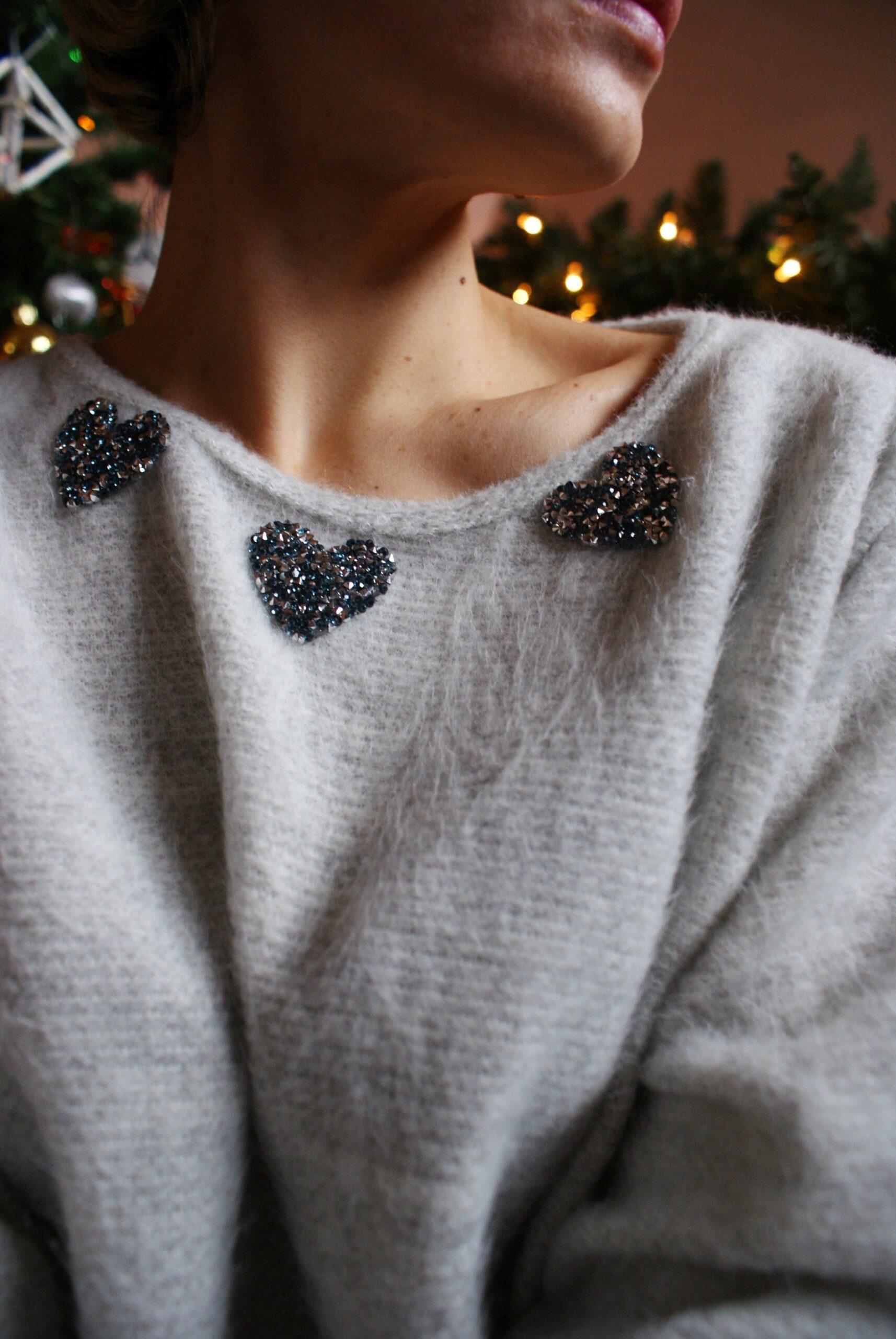 diy sparkling christmas sweater francinesplaceblog