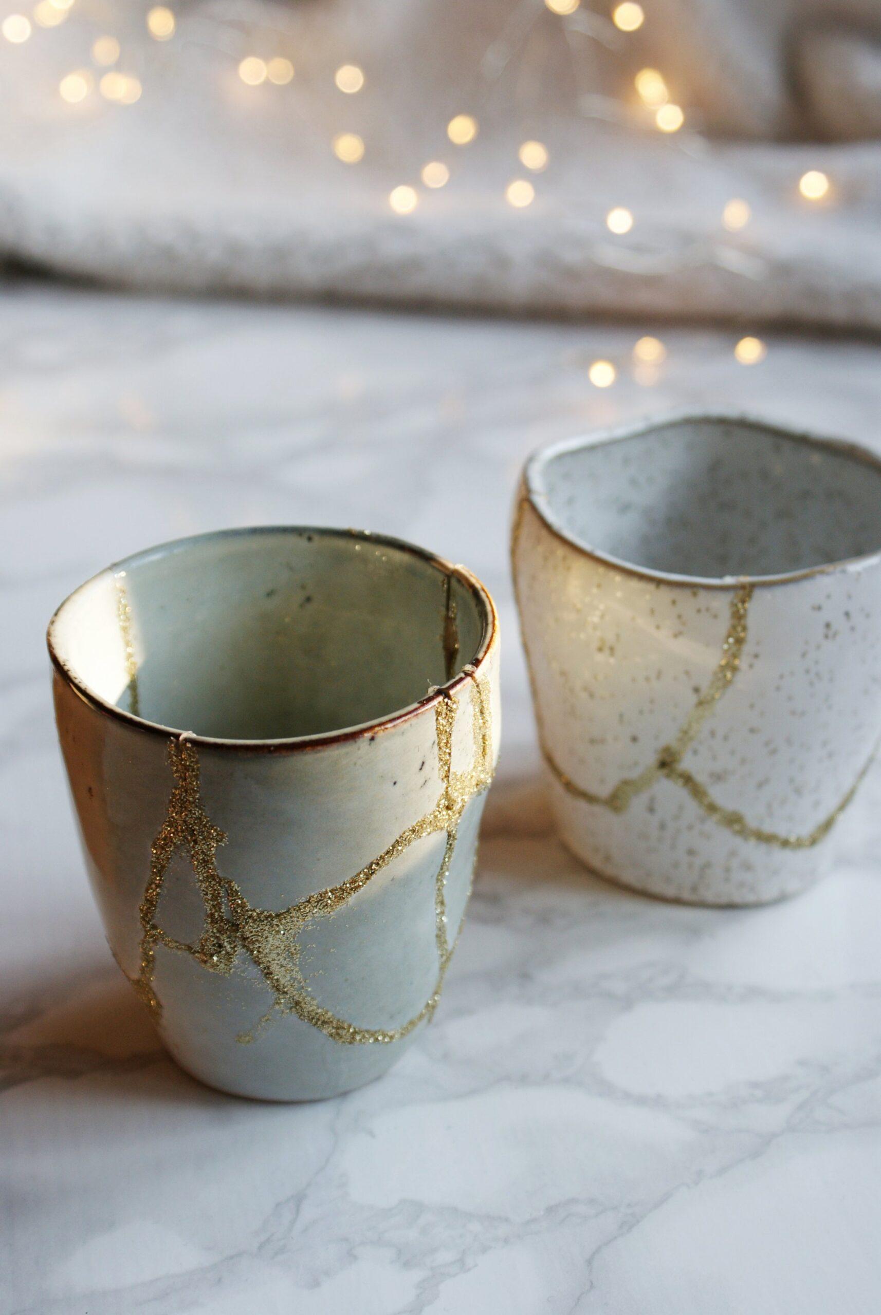 kintsugi giapponese faidate oro ceramica