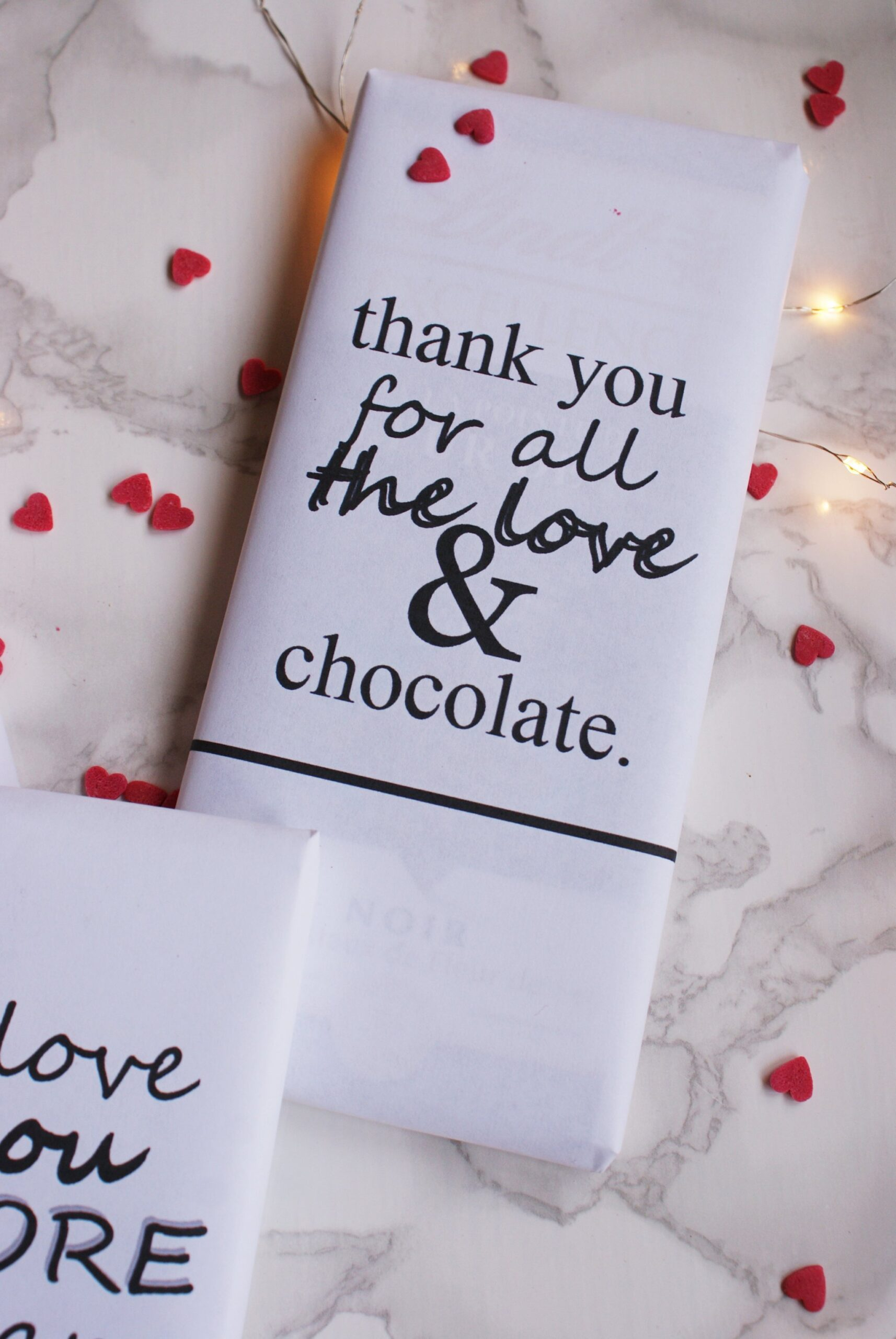 diy valentine gift idea chocolate