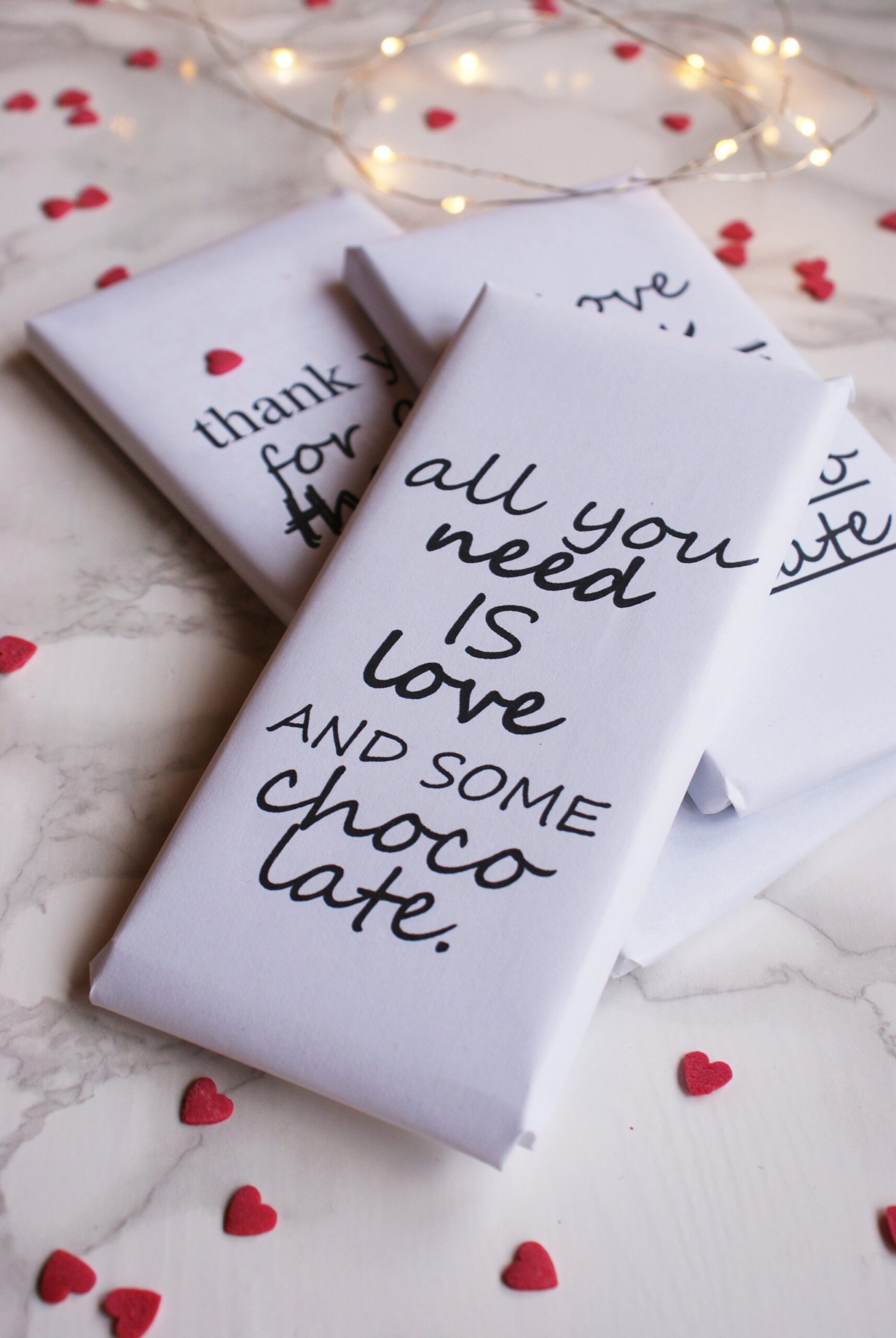 chocolate love quote wrapper valentine