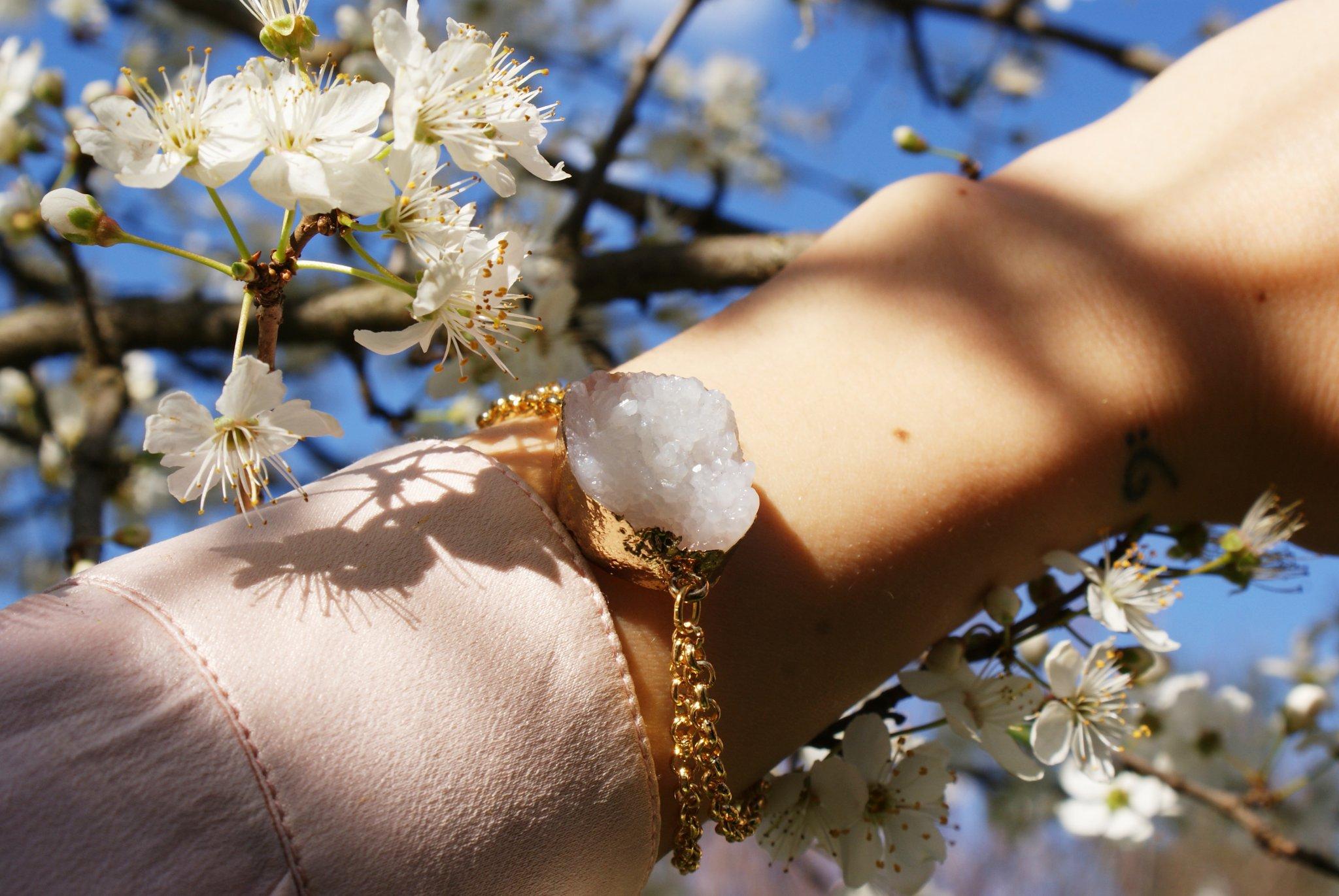 bracciale pietra quarzo faidate tutorial diy blog italia