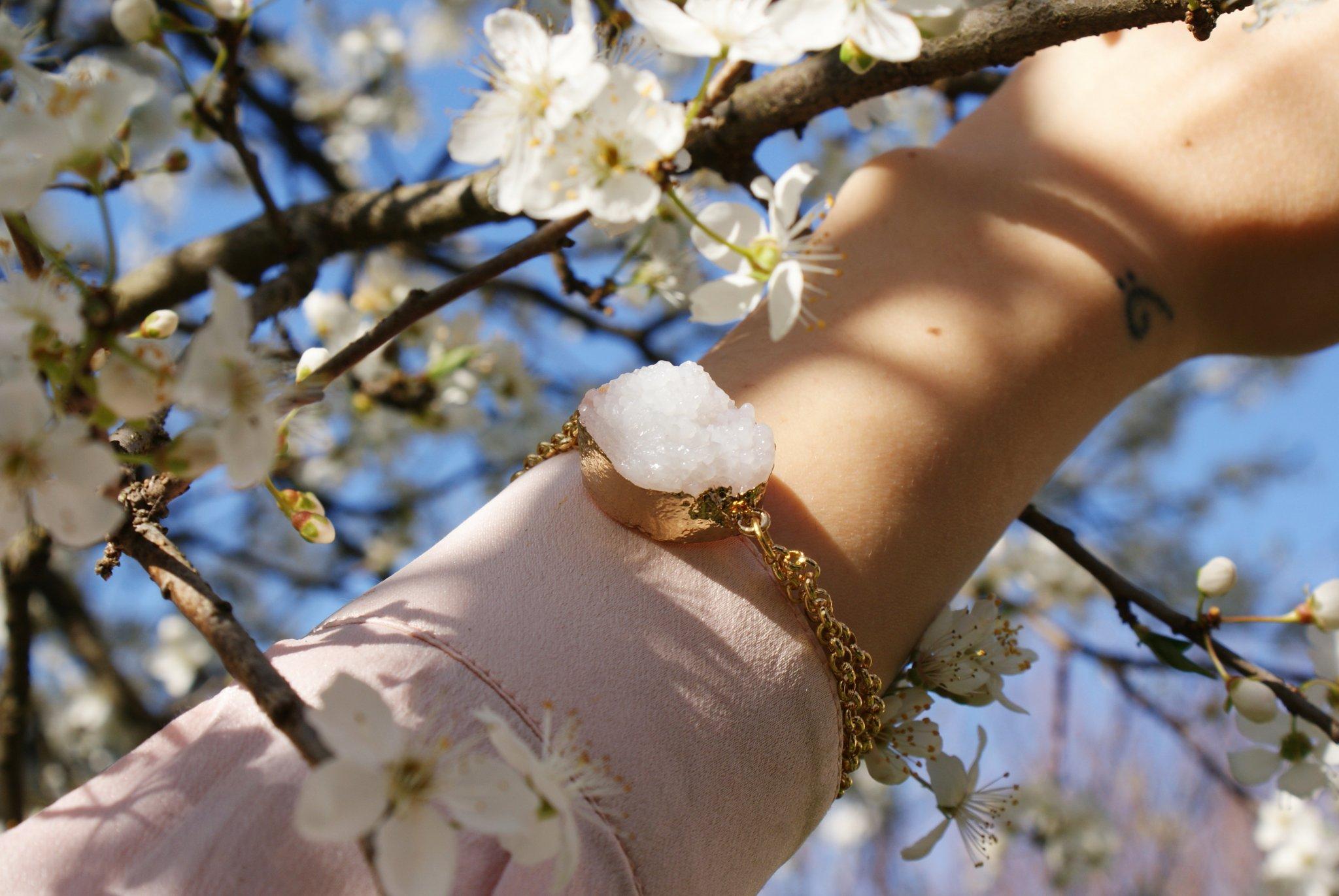 diy quartz stone bracelet accessories tutorial