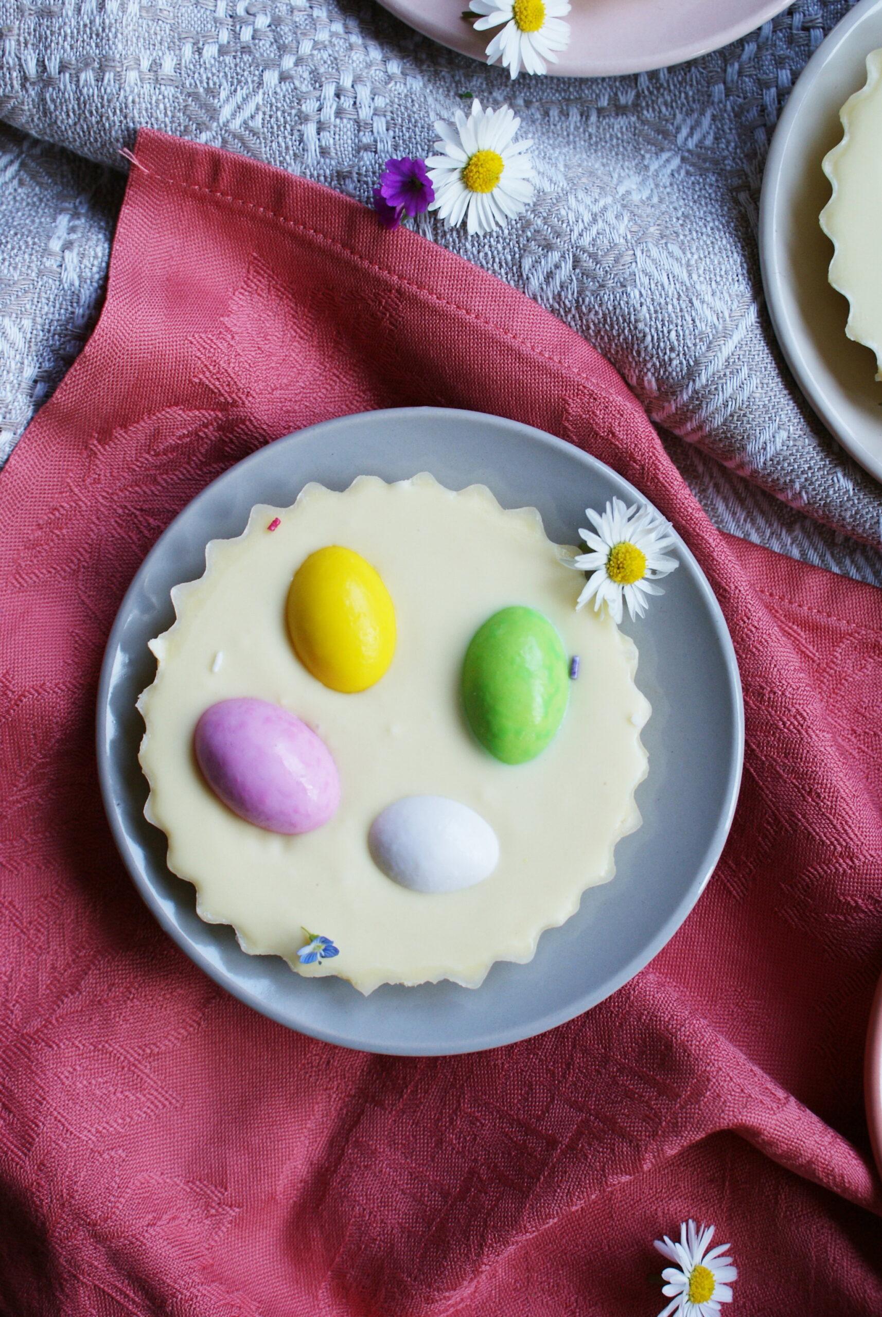 tortine cioccolato confetti uova pasqua