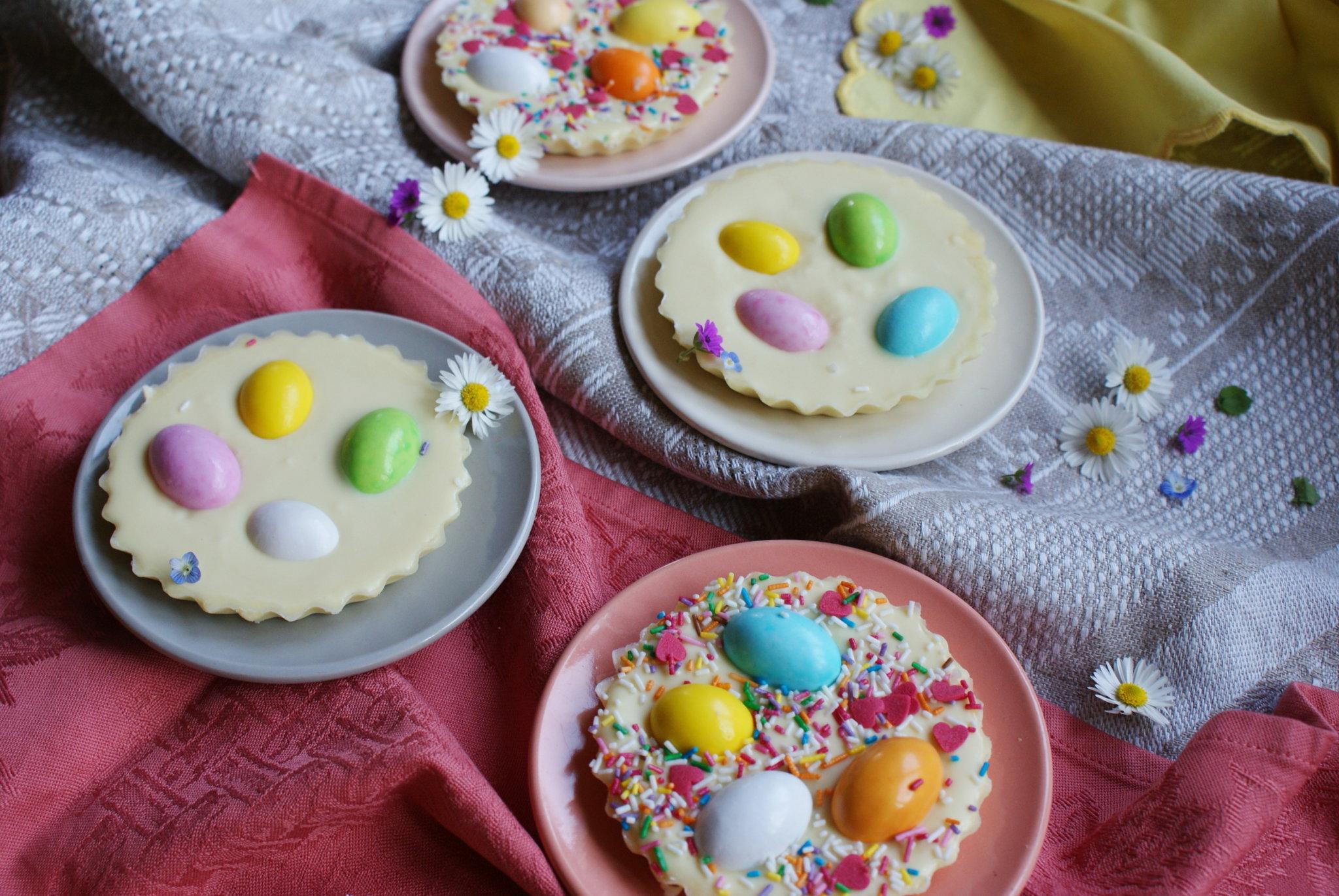 cioccolatini ovetti pasqua colorati ricetta idee