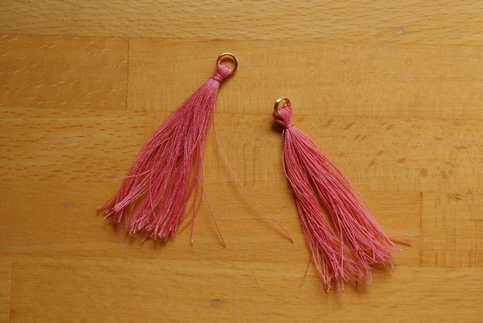 diy tassel earrings easy quick tutorial