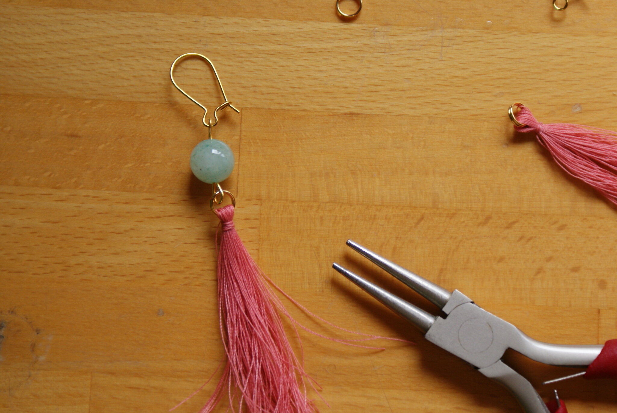 diy tassel earrings easy quick tutorial