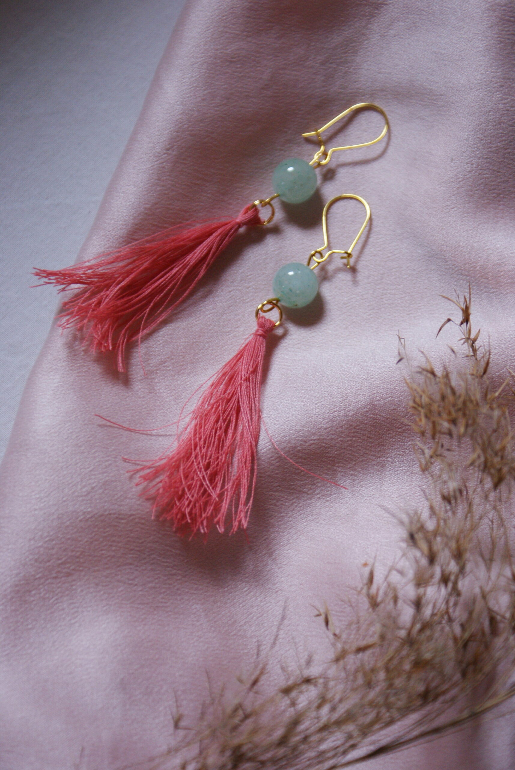 diy tassel earrings easy silk tutorial