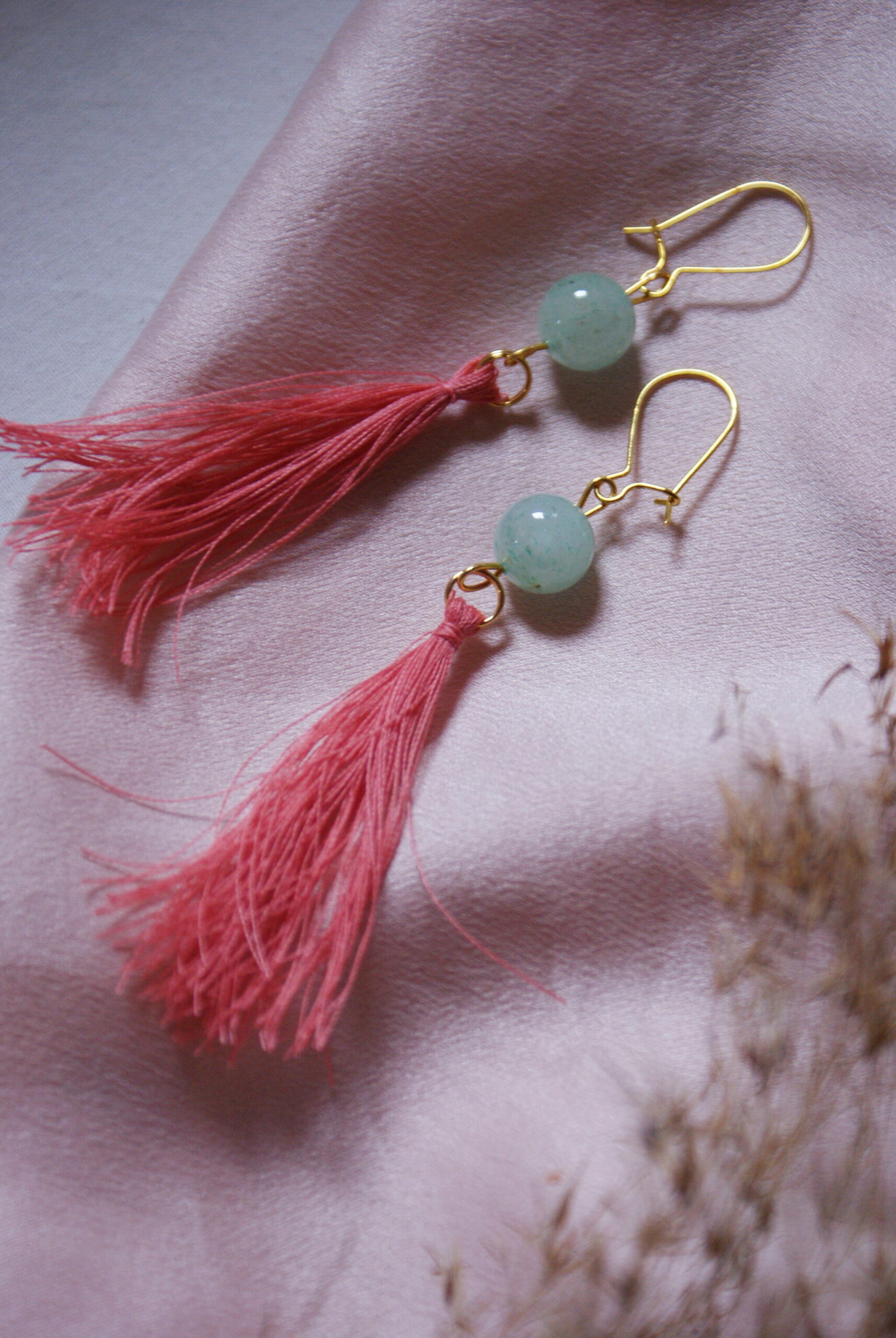 diy tassel earrings tutorial silk