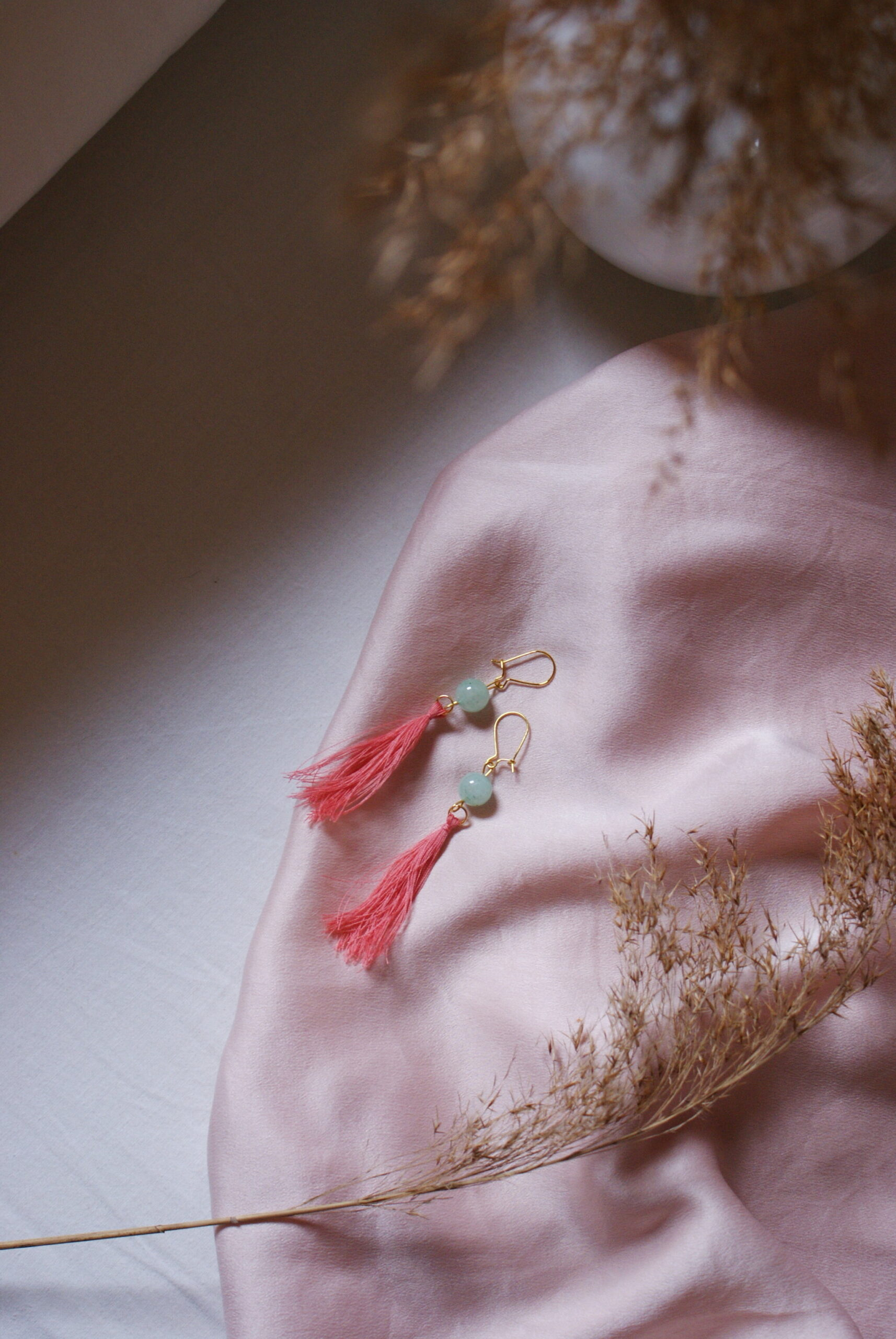 DIY SILK TASSEL + BEADS EARRINGS: EASY AND QUICK JEWELRY CRAFT IDEA