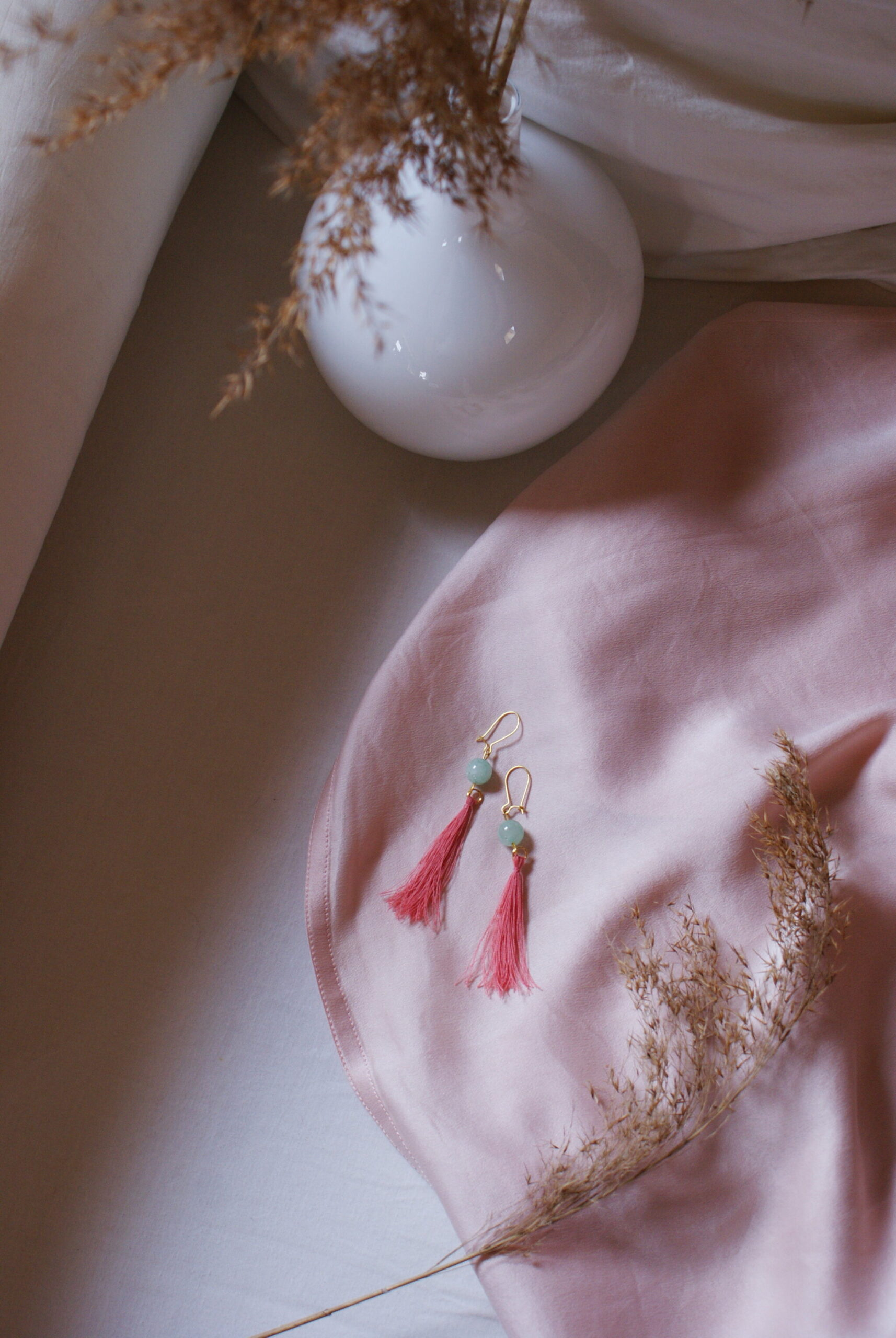 diy tassel earrings bead tutorial