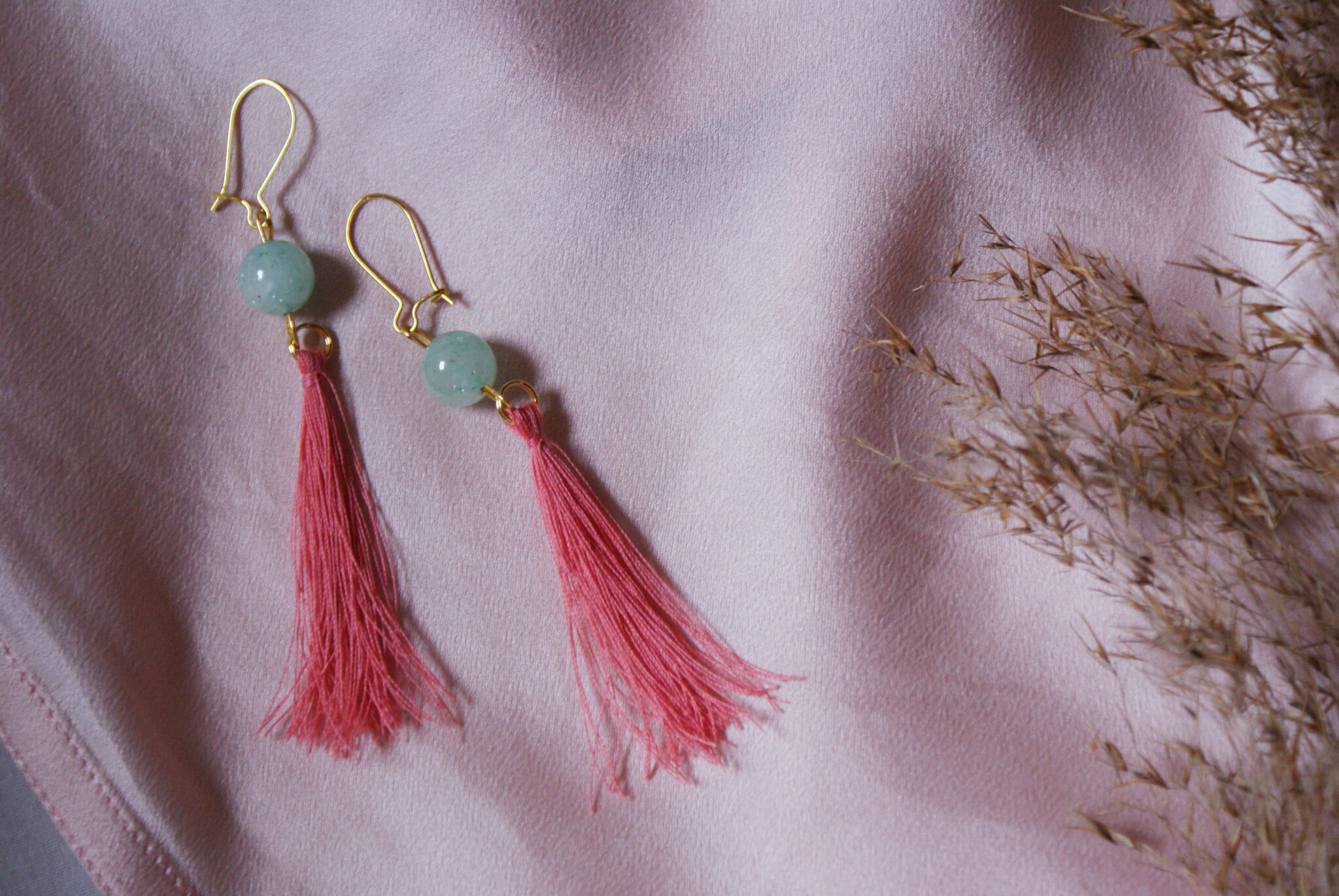 silk tassel earrings diy tutorial