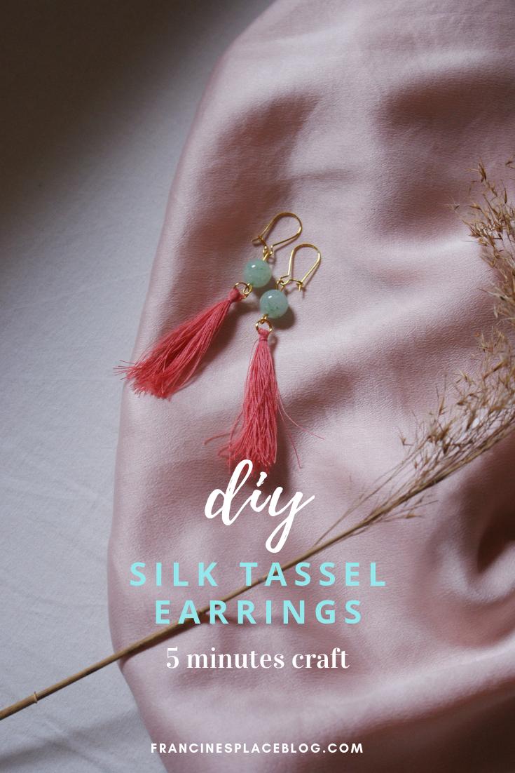 diy silk tassel earrings easy tutorial beads francinesplaceblog