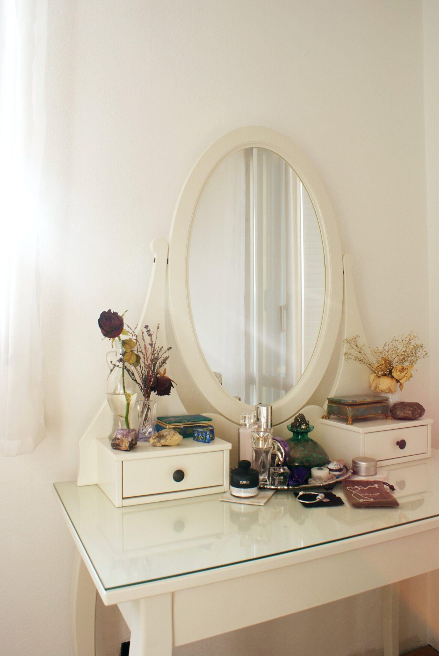 diy vanity corner dresser room