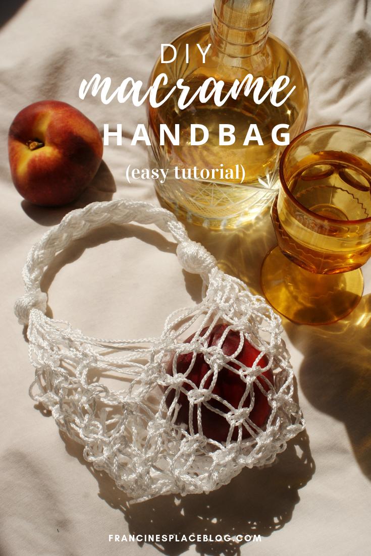 diy macrame hand bag produce net ultimate easy tutorial francinesplaceblog
