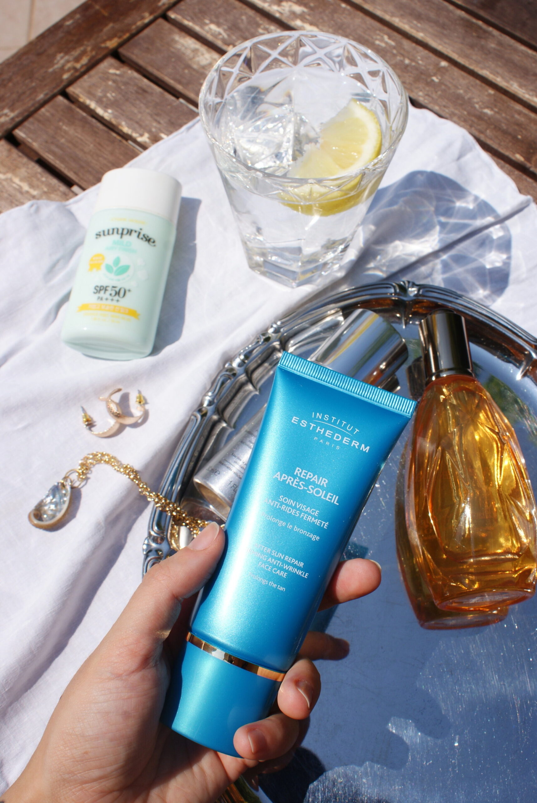 esthederm review summer products sun blogger